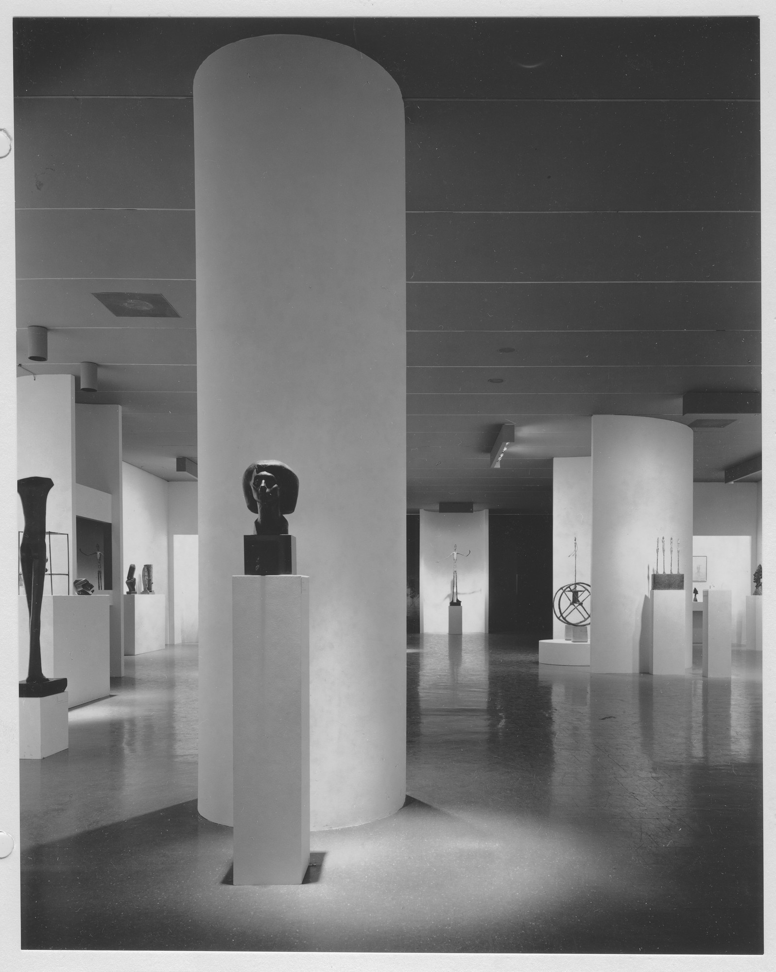 "Installation view of the exhibition, ""Giacometti."" June 9, 1965–October 12, 1965. Photographic Archive. The Museum of Modern Art Archives, New York. IN768.1. Photograph by Alexandre Georges."