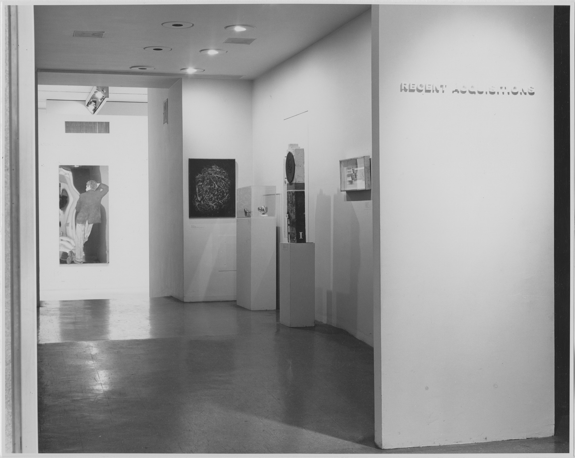 "Installation view of the exhibition, ""Recent Acquisitions."" April 6, 1966–June 12, 1966. Photographic Archive. The Museum of Modern Art Archives, New York. IN795.1. Photograph by Rolf Petersen."