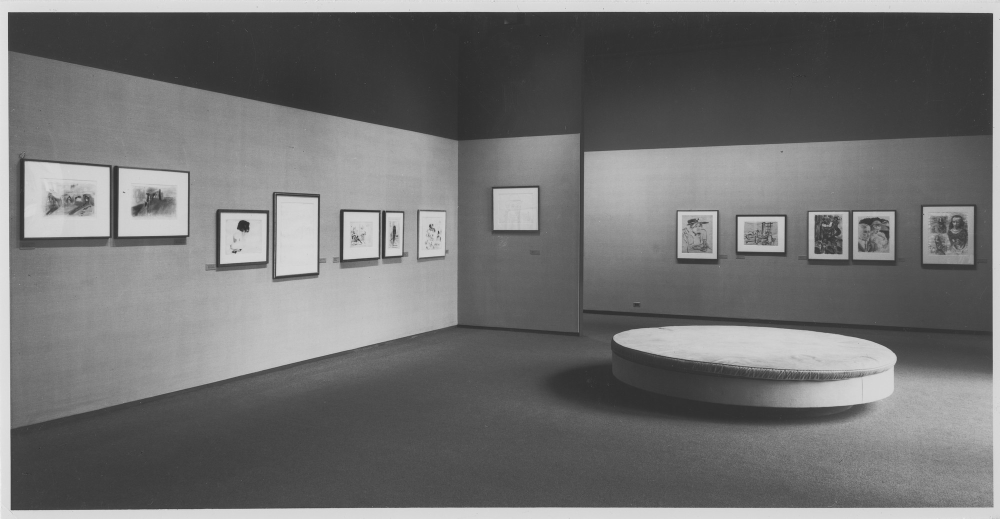 "Installation view of the exhibition, ""Drawings from the Museum Collections."" October 31, 1966–May 8, 1967. Photographic Archive. The Museum of Modern Art Archives, New York. IN811.1. Photograph by Malcolm Varon."