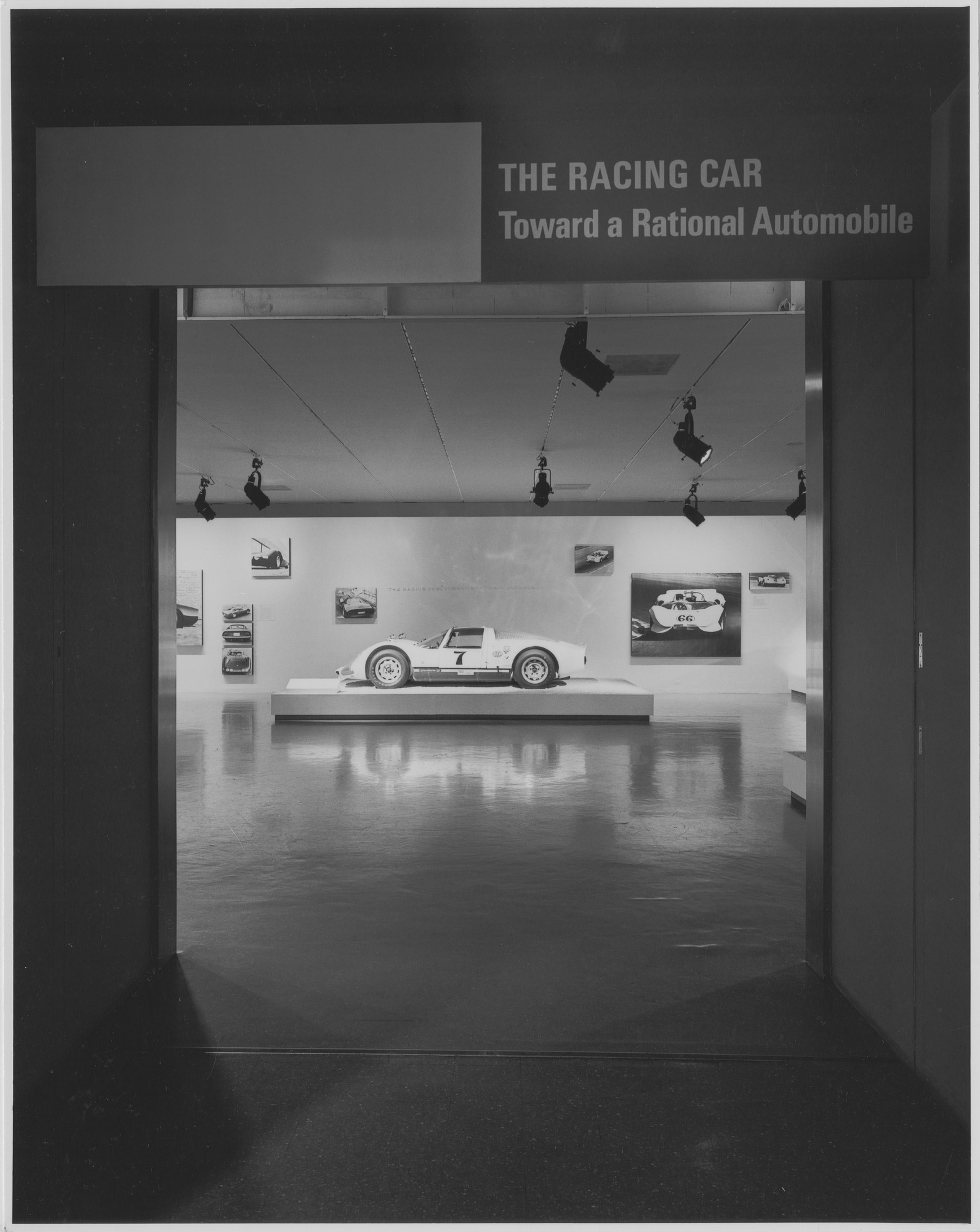"Installation view of the exhibition, ""Toward a Rational Automobile."" September 27, 1966–November 27, 1966. Photographic Archive. The Museum of Modern Art Archives, New York. IN806.1. Photograph by George Cserna."