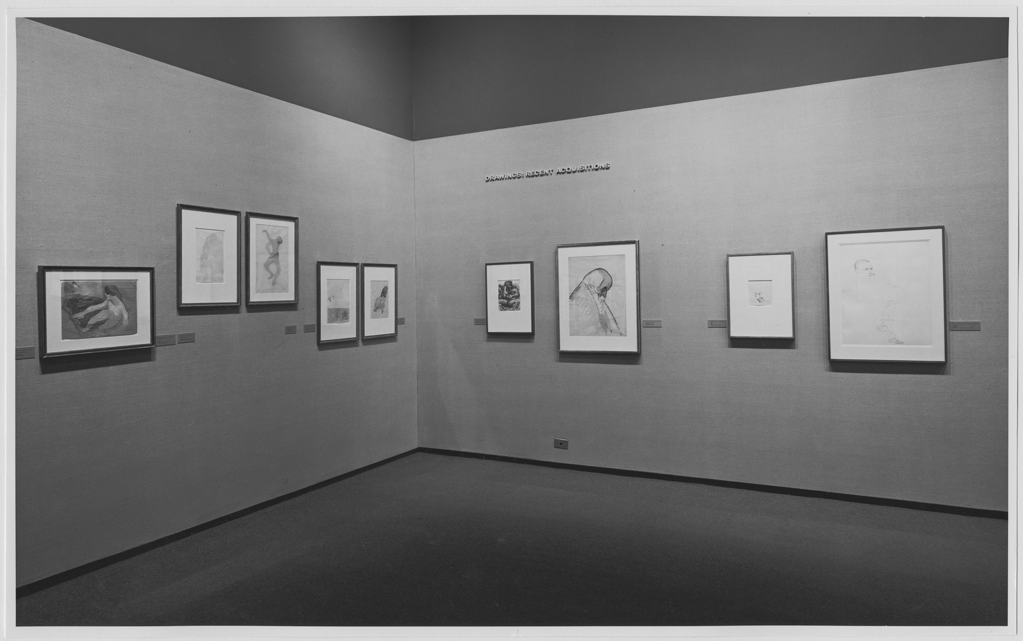"Installation view of the exhibition, ""Drawings: Recent Acquisitions."" June 6, 1967–November 22, 1967. Photographic Archive. The Museum of Modern Art Archives, New York. IN830.1. Photograph by James Mathews."