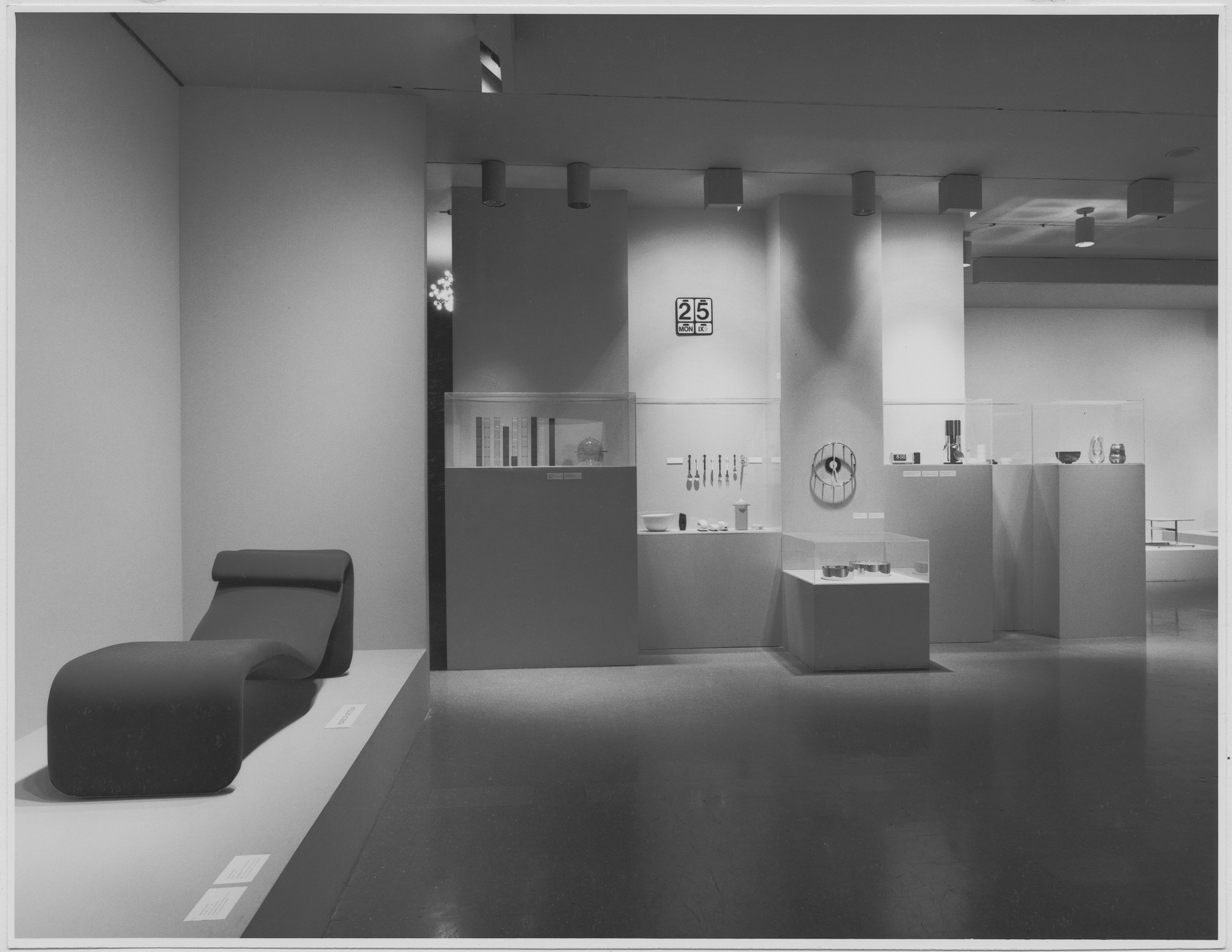 "Installation view of the exhibition, ""Recent Acquisitions:  Design Collection."" September 27, 1967–January 1, 1968. Photographic Archive. The Museum of Modern Art Archives, New York. IN840.1. Photograph by George Cserna."