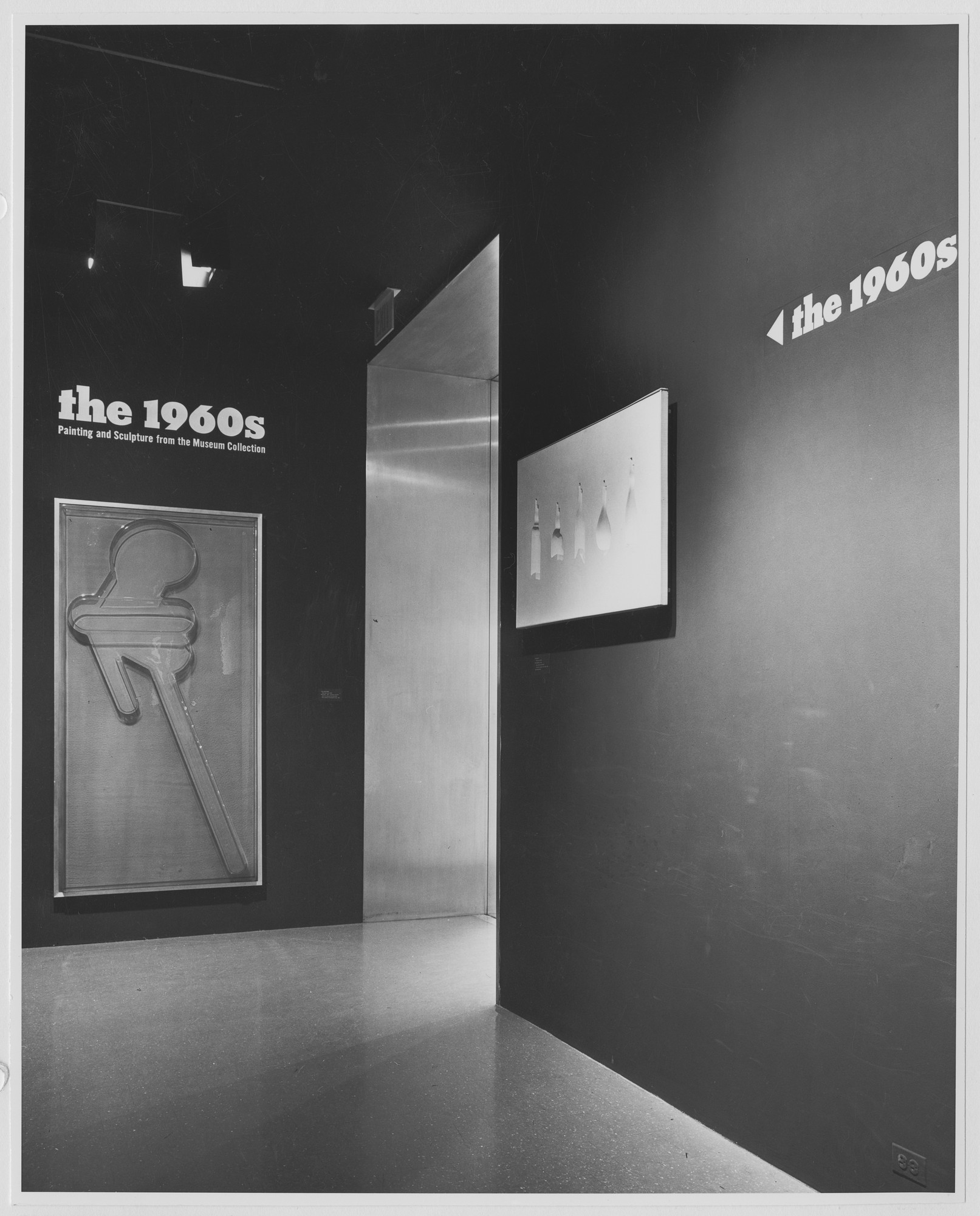 "Installation view of the exhibition, ""The 1960's:  Painting and Sculpture from the MoMA Collection."" June 28, 1967–September 24, 1967. Photographic Archive. The Museum of Modern Art Archives, New York. IN834.1. Photograph by James Mathews."