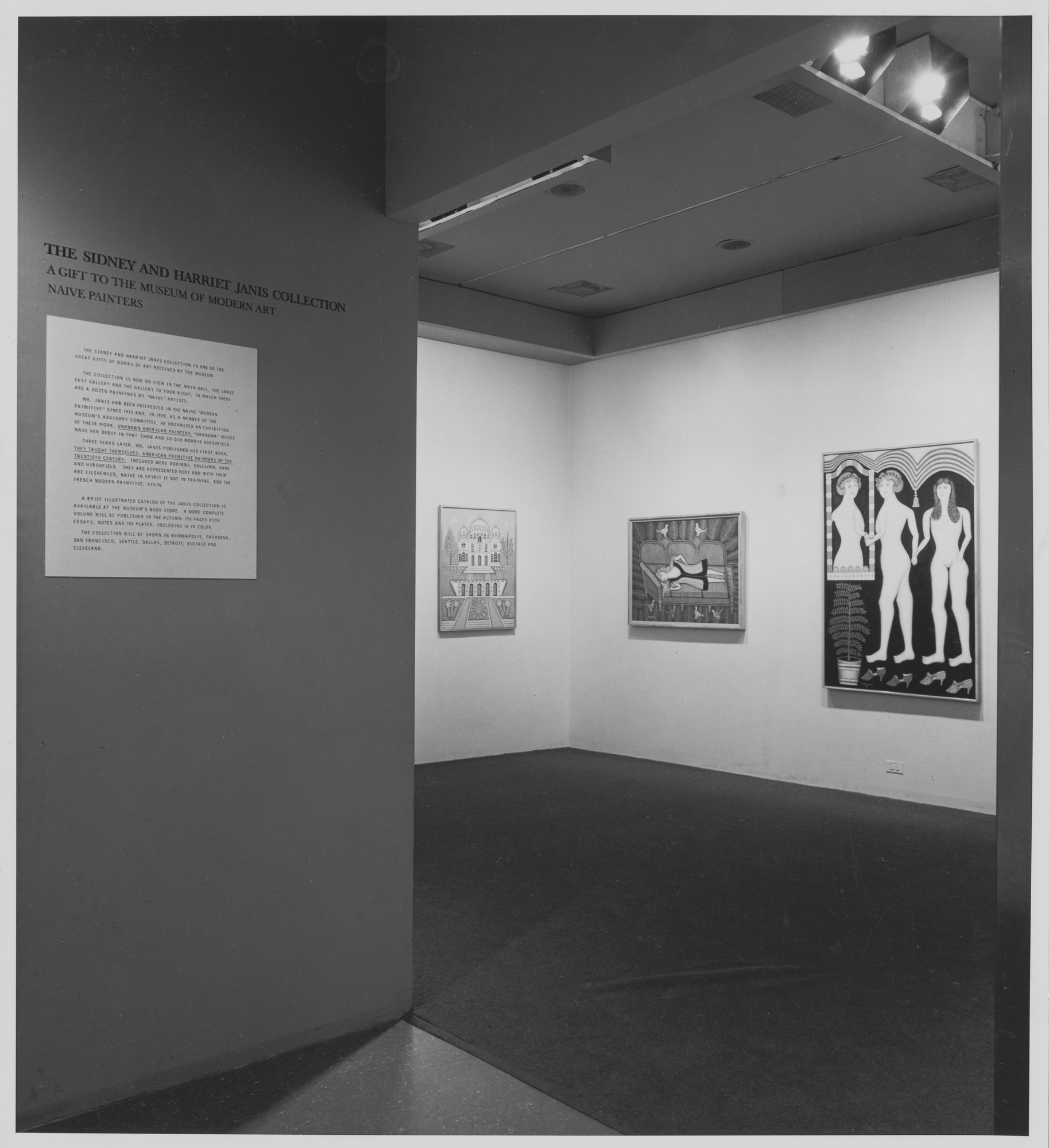 "Installation view of the exhibition, ""The Sidney and Harriet Janis Collection."" January 17, 1968–March 4, 1968. Photographic Archive. The Museum of Modern Art Archives, New York. IN848.1. Photograph by James Mathews."