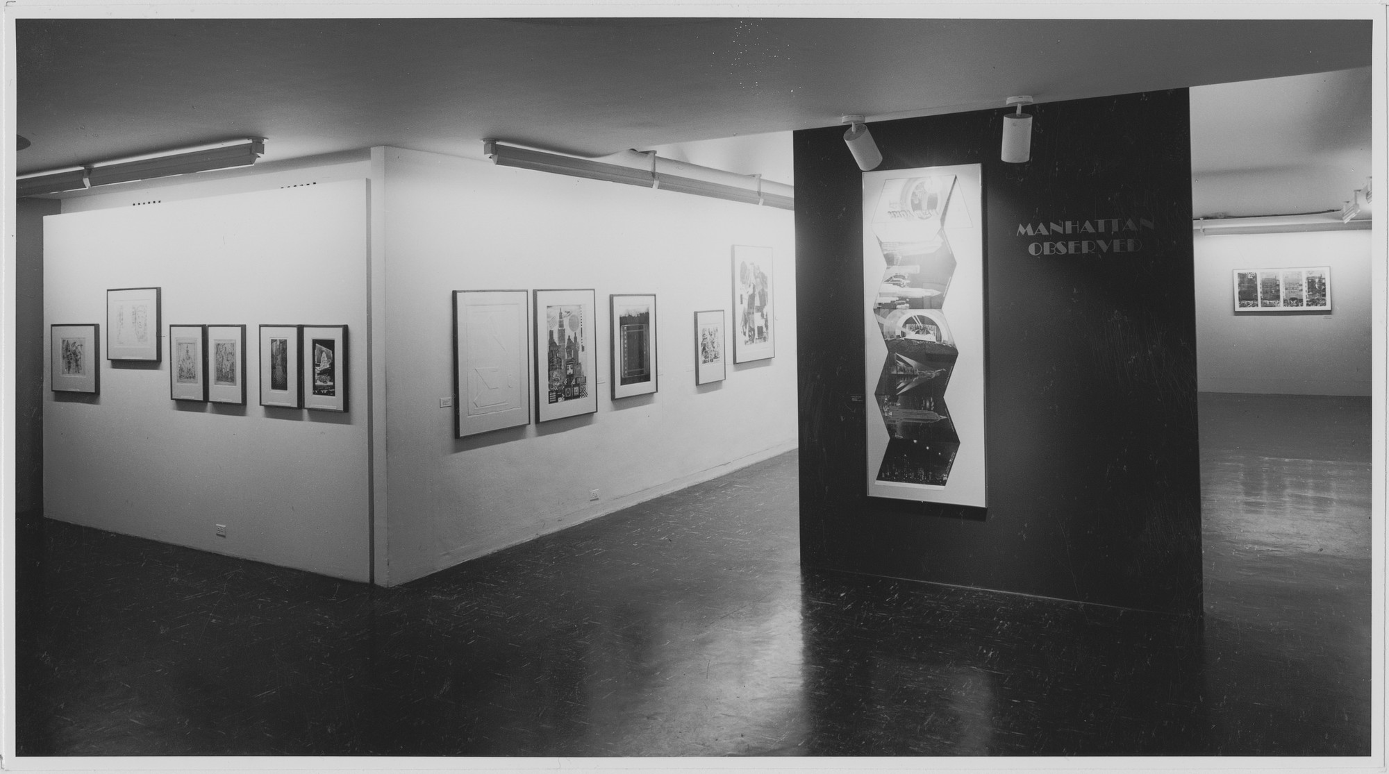 "Installation view of the exhibition, ""Manhattan Observed."" March 22, 1968–July 1, 1968. Photographic Archive. The Museum of Modern Art Archives, New York. IN854.1. Photograph by James Mathews."