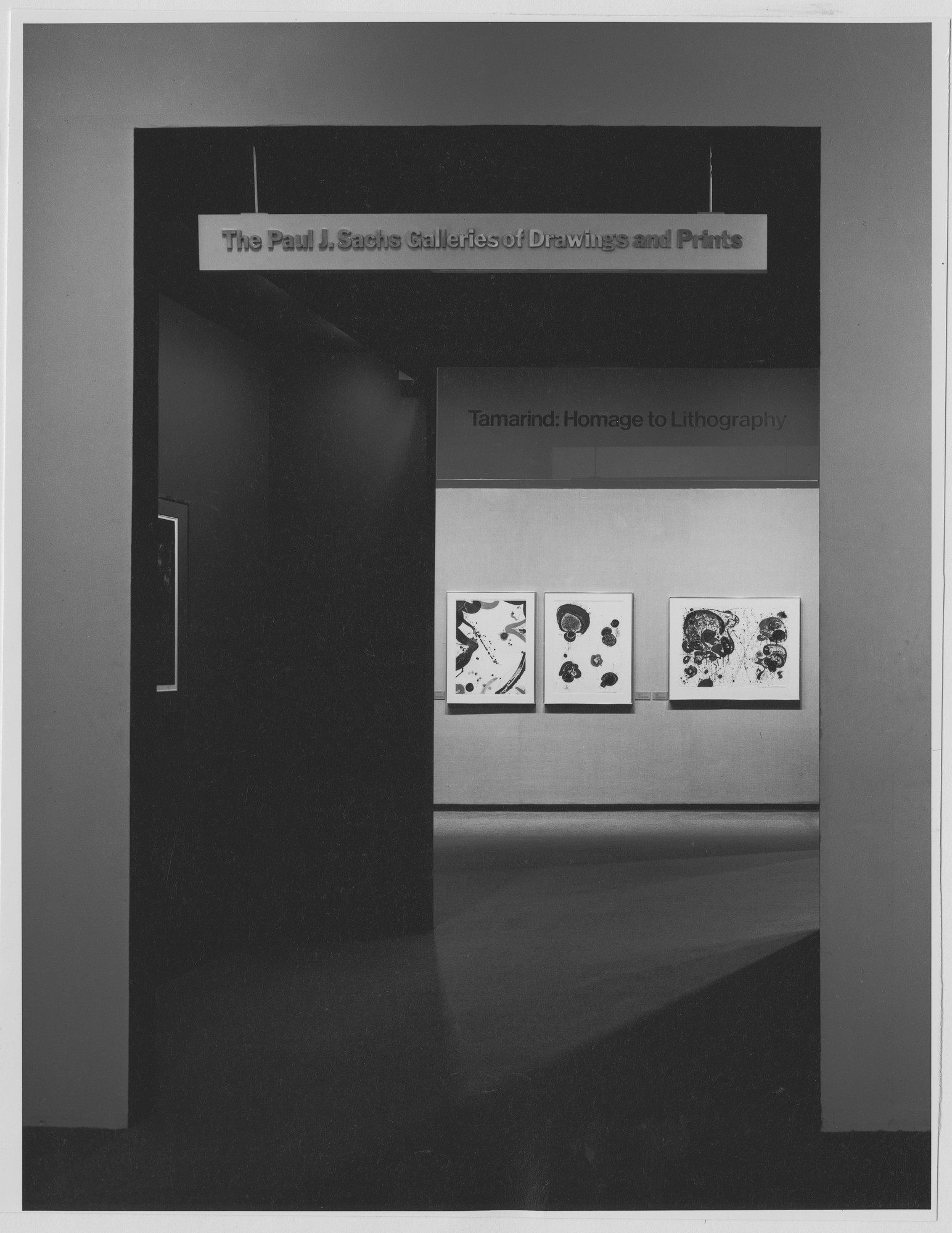 "Installation view of the exhibition, ""Tamrind: Homage to Lithography."" April 29, 1969–September 1, 1969. Photographic Archive. The Museum of Modern Art Archives, New York. IN890.1. Photograph by James Mathews."