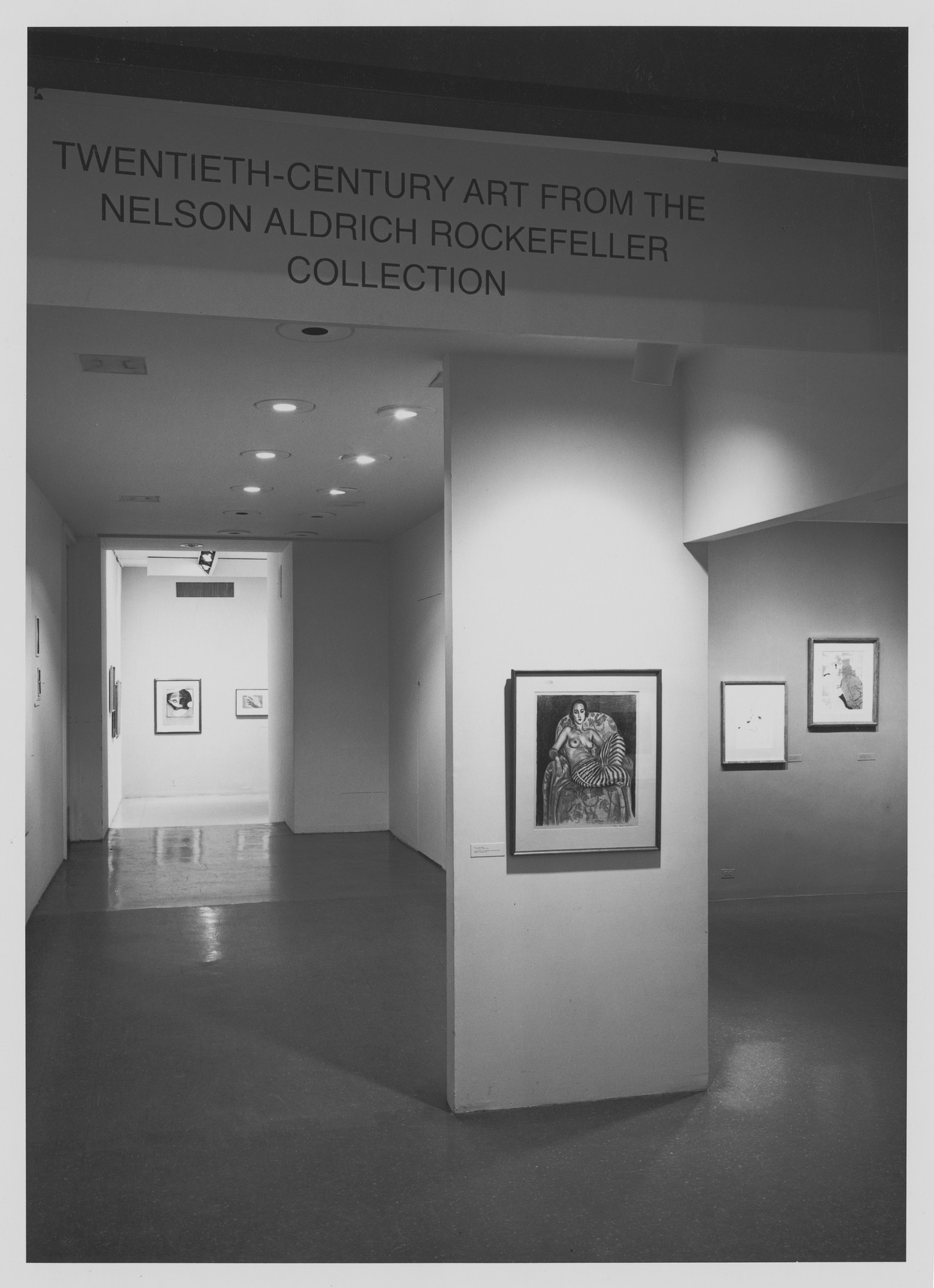 "Installation view of the exhibition, ""Twentieth-Century Art from the Nelson Aldrich Rockefeller Collection"" May 28, 1969–September 1, 1969. Photographic Archive. The Museum of Modern Art Archives, New York. IN892.1. Photograph by James Mathews."