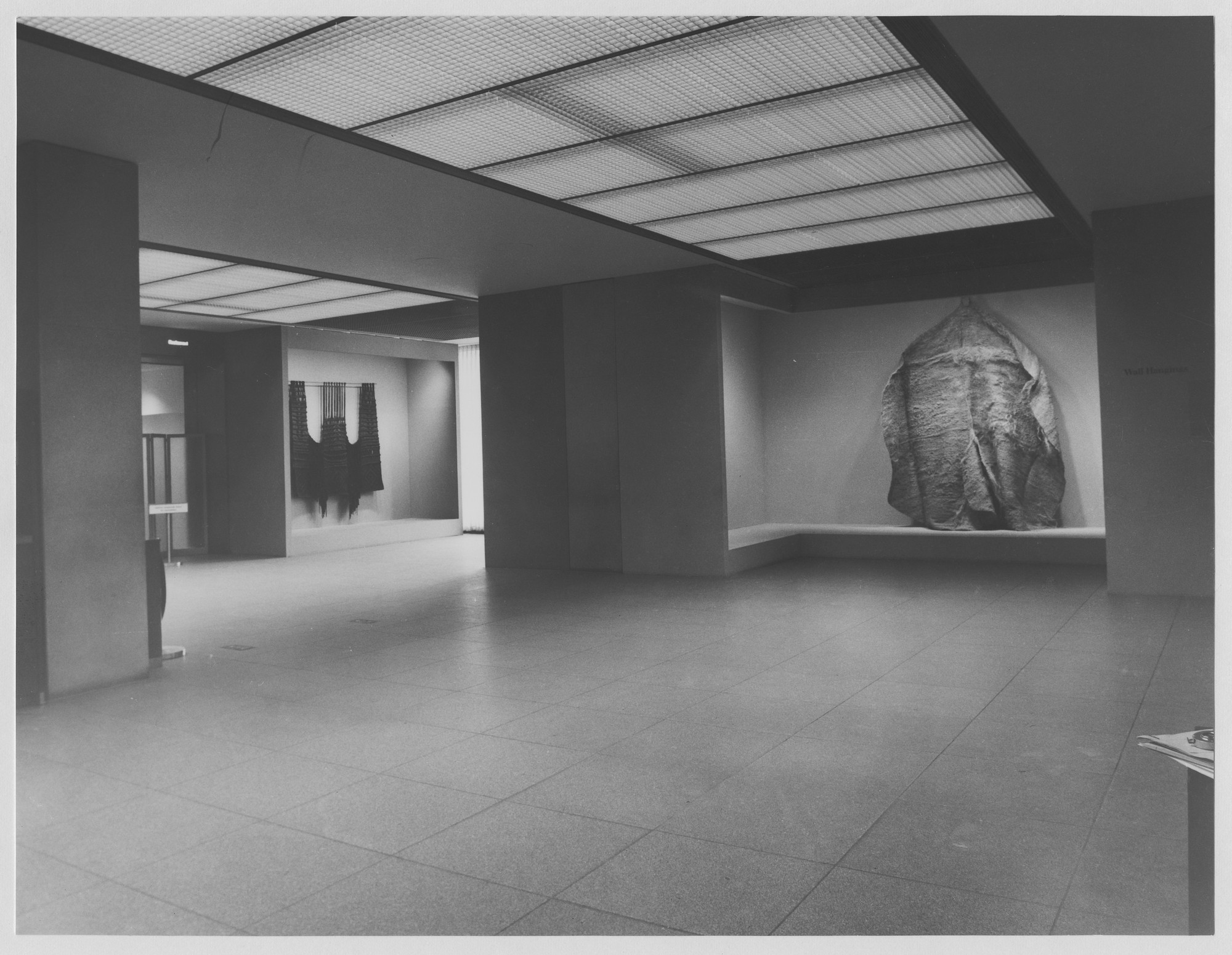 "Installation view of the exhibition, ""Wall Hangings."" February 25, 1969–May 4, 1969. Photographic Archive. The Museum of Modern Art Archives, New York. IN882.1. Photograph by Stan Ries."