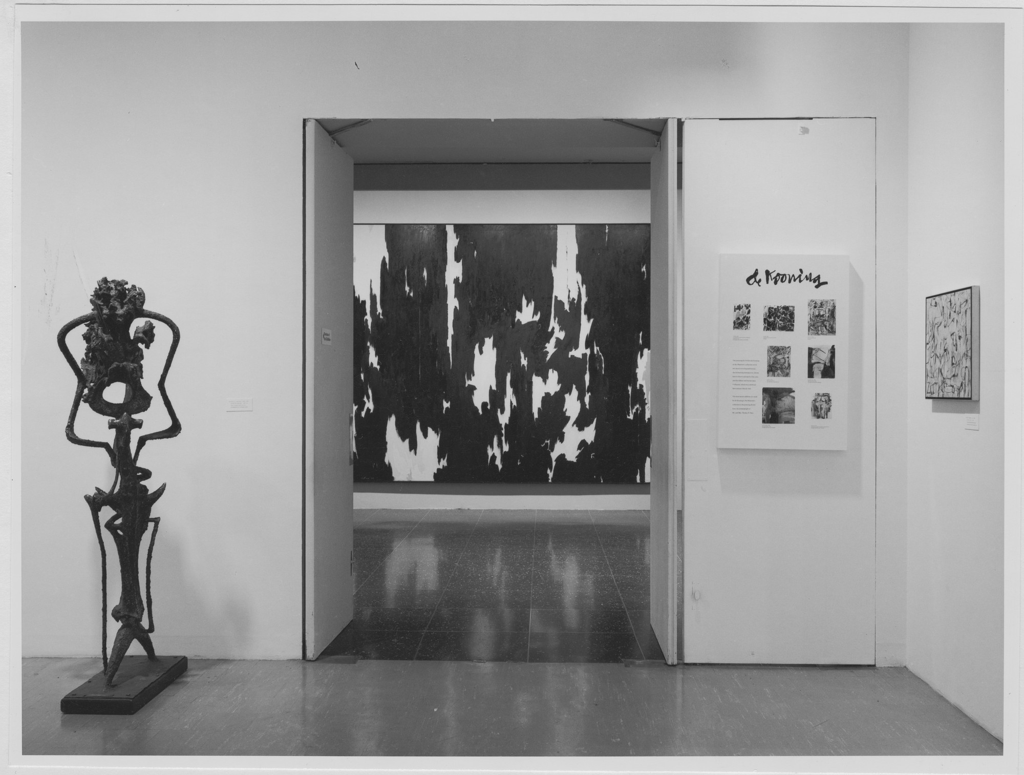 "Installation view of the exhibition, ""The New American Painting and Sculpture:  The First Generation."" June 18, 1969–October 5, 1969. Photographic Archive. The Museum of Modern Art Archives, New York. IN893.1. Photograph by James Mathews."