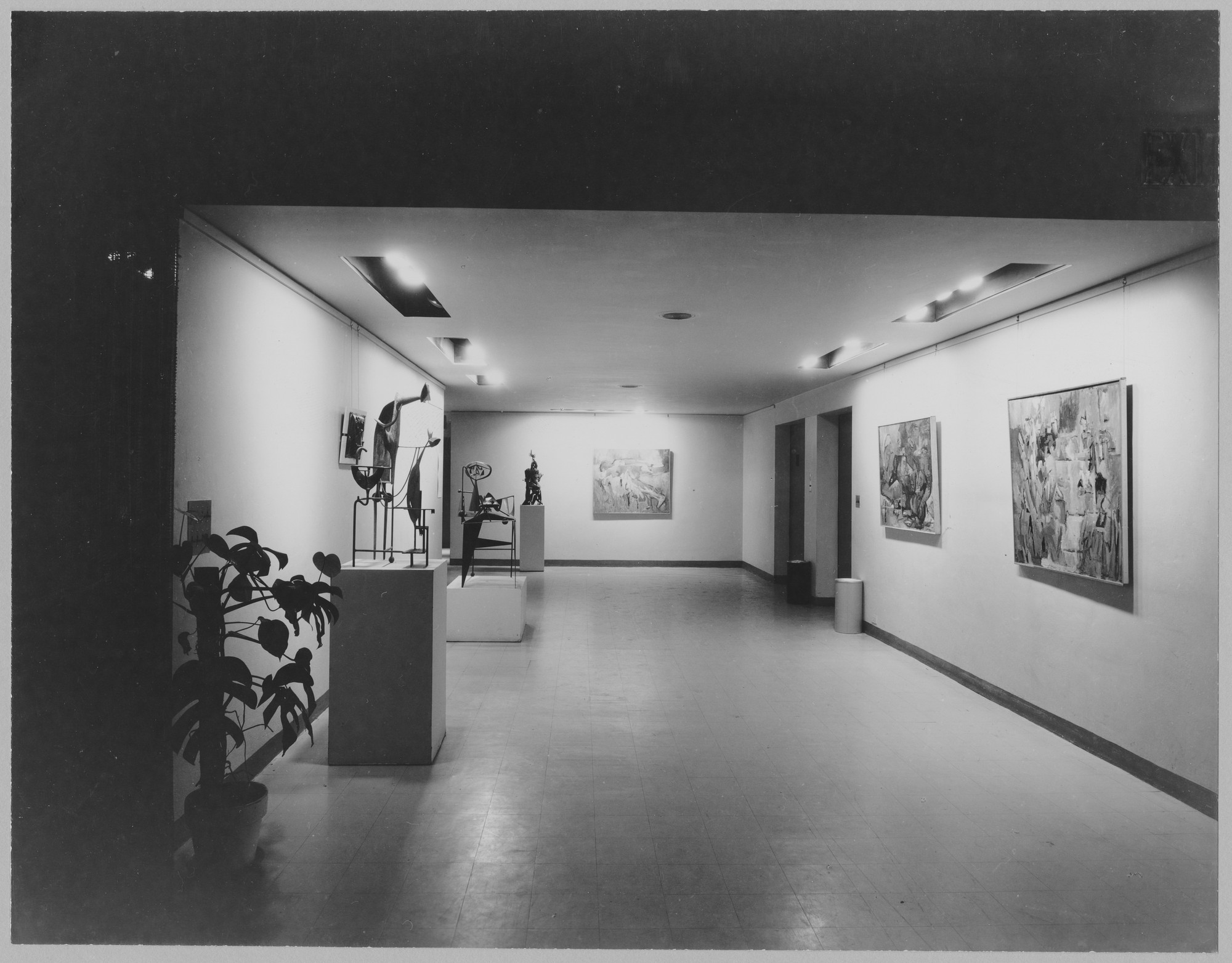 "Installation view of the exhibition, ""New Talent (VIII)."" December 6, 1955–January 22, 1956. Photographic Archive. The Museum of Modern Art Archives, New York. IN592.1. Photograph by Soichi Sunami."