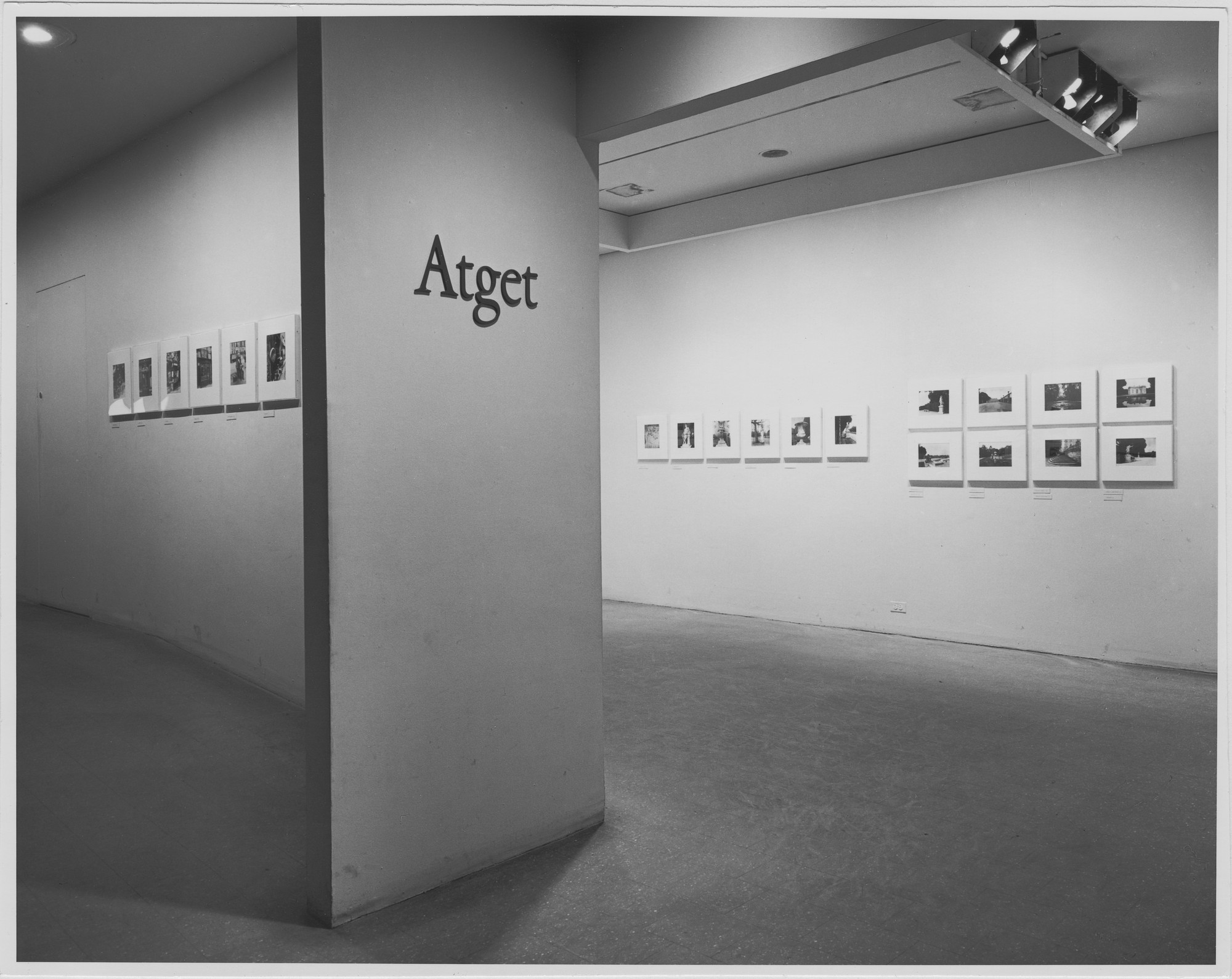 "Installation view of the exhibition, ""Atget Collection."" December 1, 1969–March 24, 1970. Photographic Archive. The Museum of Modern Art Archives, New York. IN912.1. Photograph by James Mathews."