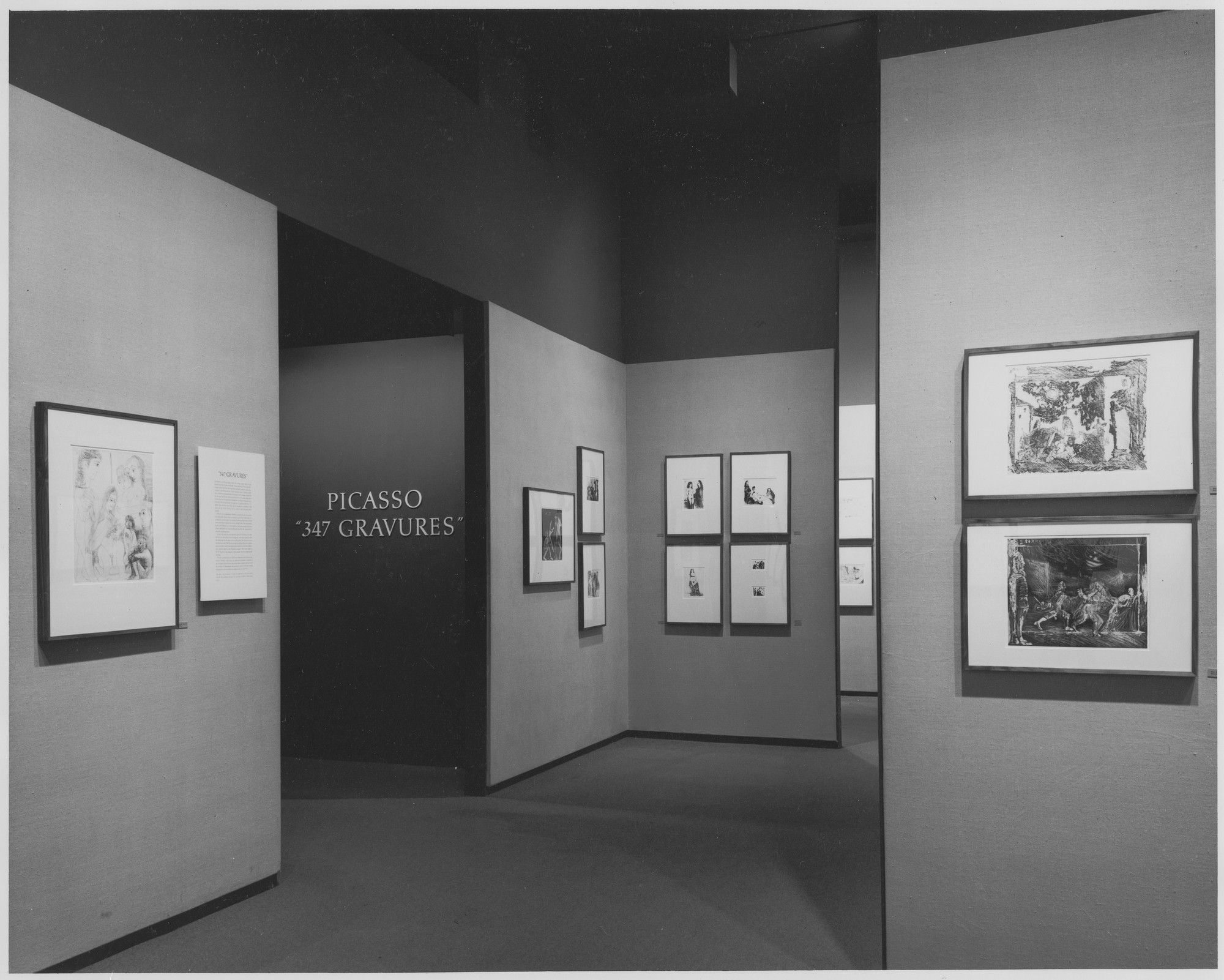 "Installation view of the exhibition, ""Picasso: Master Printmaker."" October 15, 1970–November 29, 1970. Photographic Archive. The Museum of Modern Art Archives, New York. IN942.1. Photograph by Alexandre Georges."