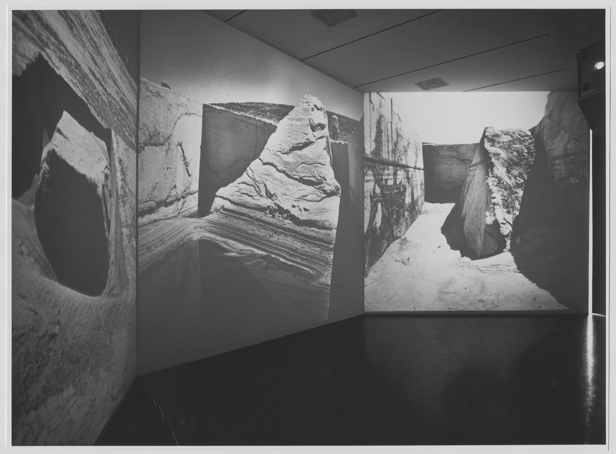 "Installation view of the exhibition, ""Information"" July 2, 1970–September 20, 1970. Photographic Archive. The Museum of Modern Art Archives, New York. IN934.1. Photograph by James Mathews."