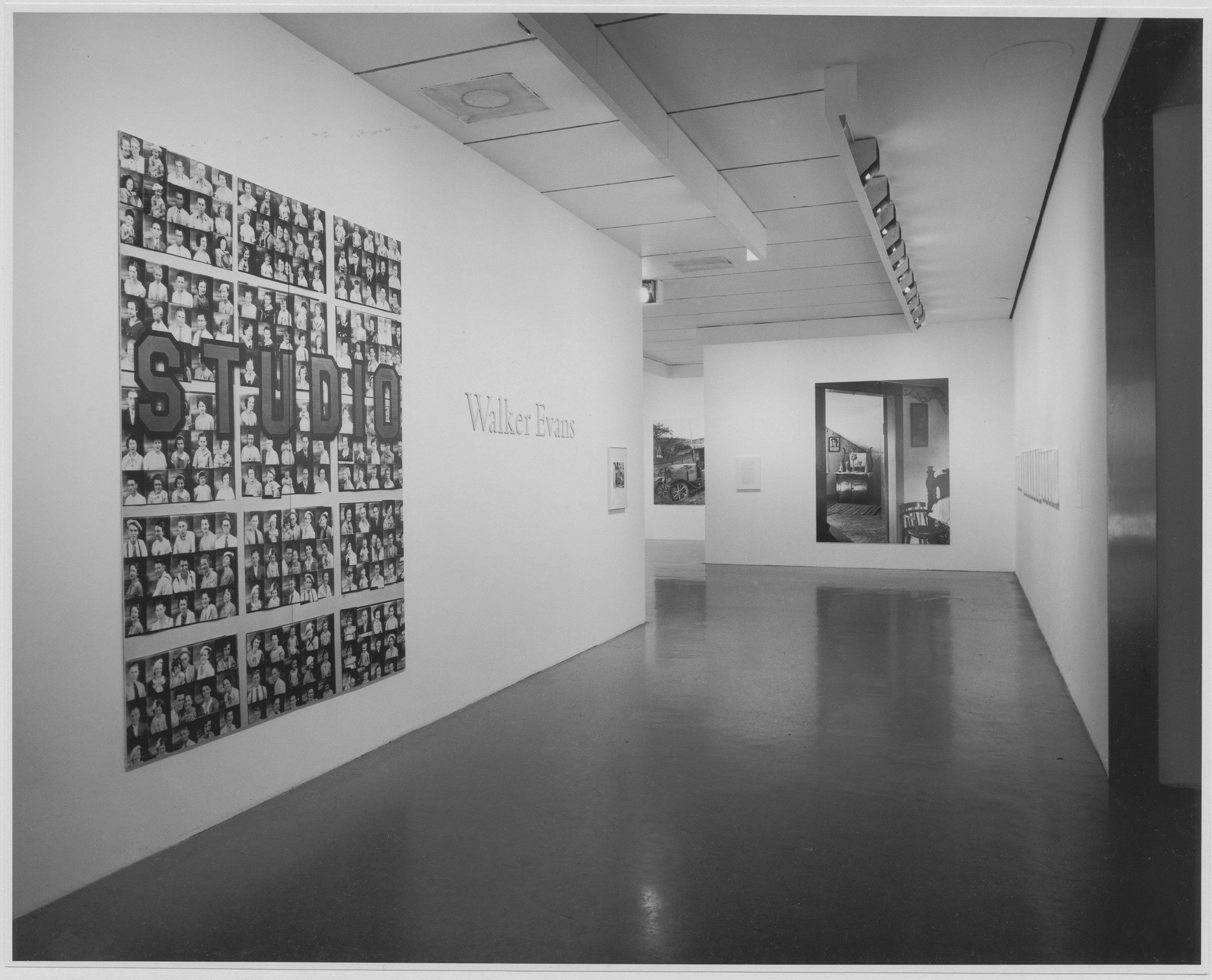 "Installation view of the exhibition, ""Walker Evans."" January 27, 1971–April 12, 1971. Photographic Archive. The Museum of Modern Art Archives, New York. IN952.1. Photograph by James Mathews."