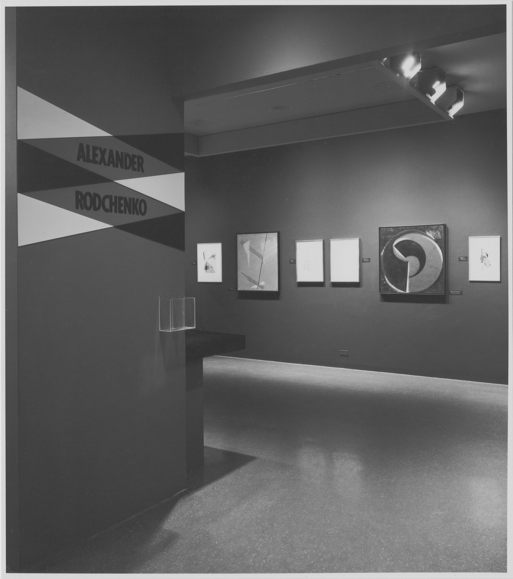 "Installation view of the exhibition, ""Alexander Rodchenko."" February 2, 1971–April 21, 1971. Photographic Archive. The Museum of Modern Art Archives, New York. IN953.1. Photograph by James Mathews."