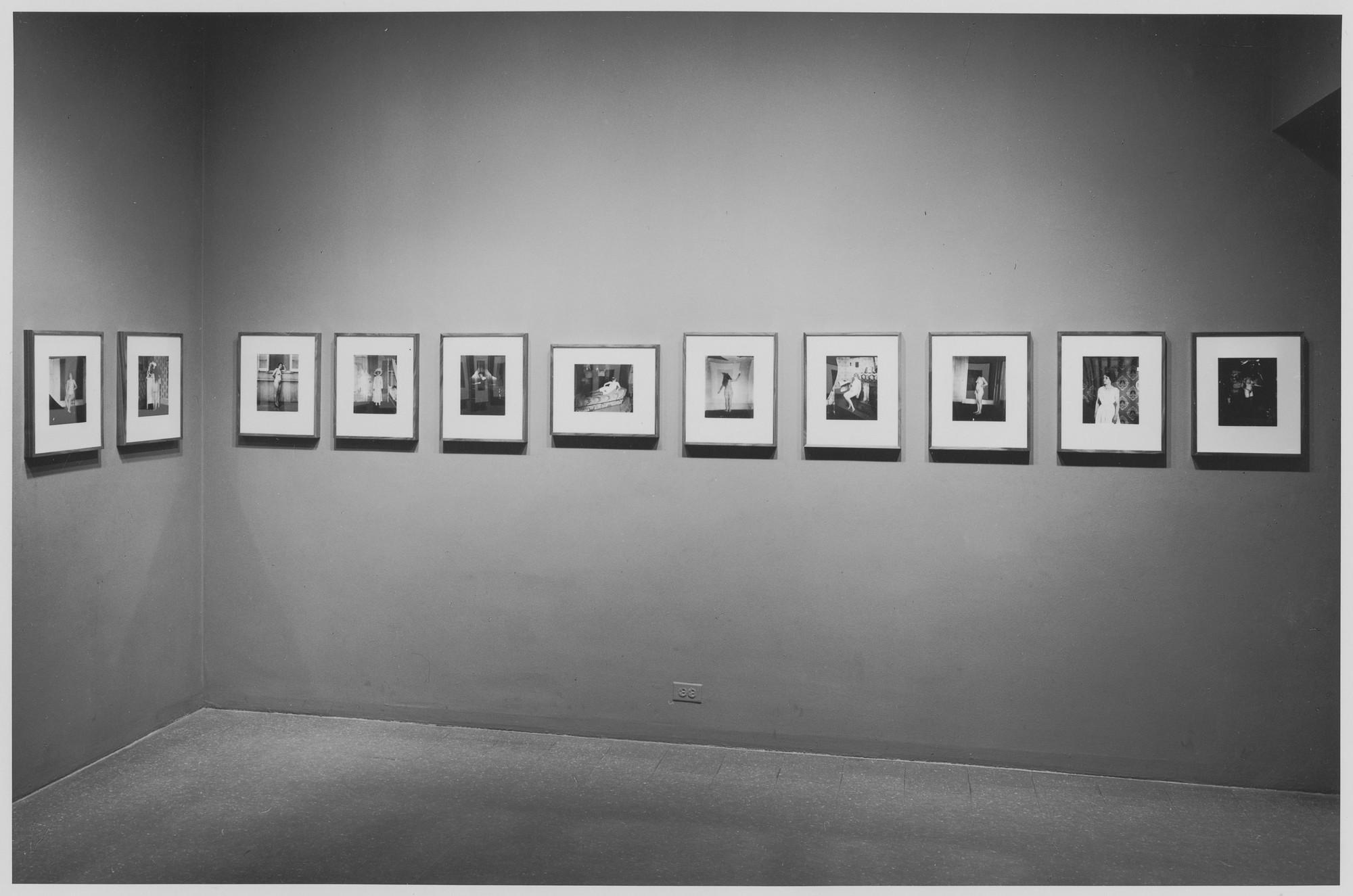 "Installation view of the exhibition, ""E.J. Bellocq:  Storyville Portraits."" November 19, 1970–January 10, 1971. Photographic Archive. The Museum of Modern Art Archives, New York. IN945.1. Photograph by James Mathews."