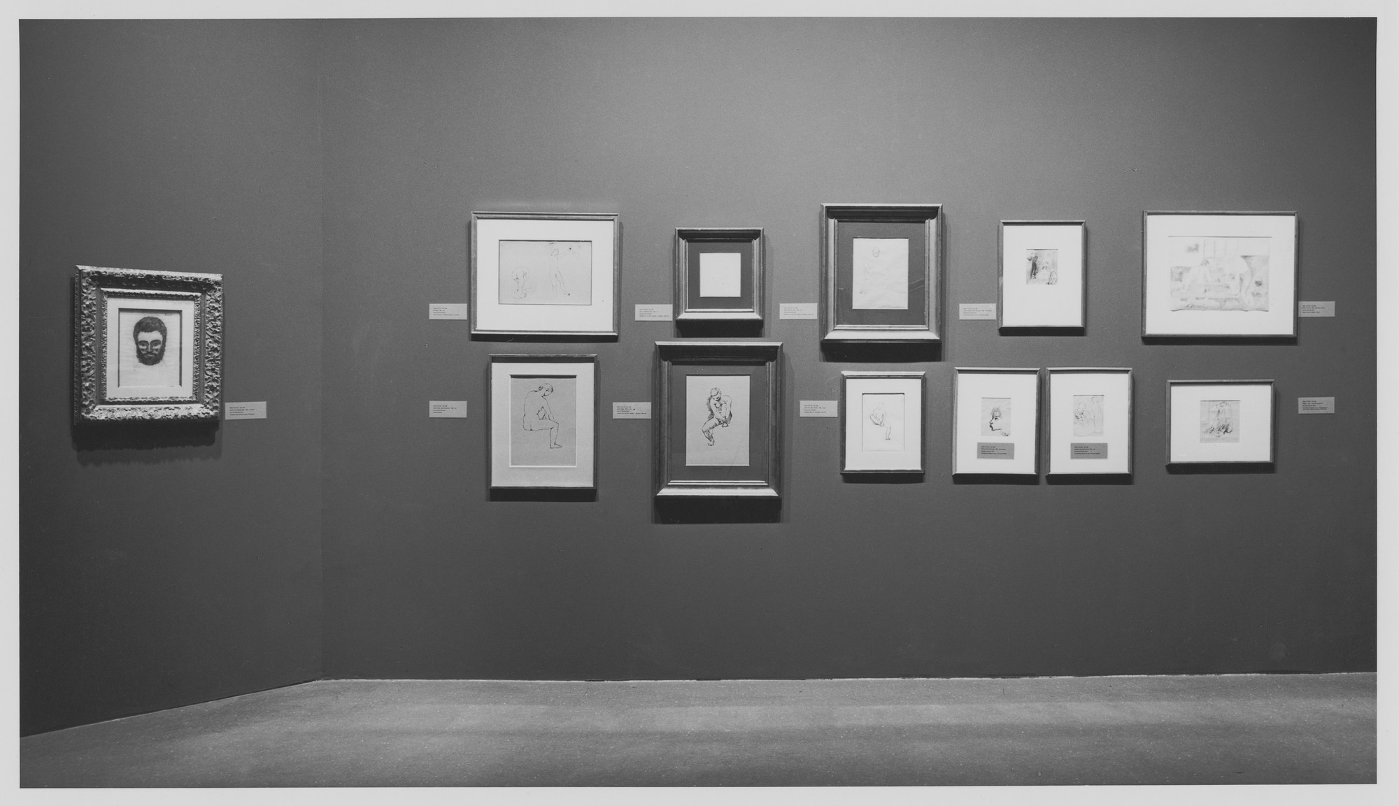 "Installation view of the exhibition, ""Four Americans in Paris:  The Collection of Gertrude Stein and her Family"" December 19, 1970–March 1, 1971. Photographic Archive. The Museum of Modern Art Archives, New York. IN950.1. Photograph by James Mathews."