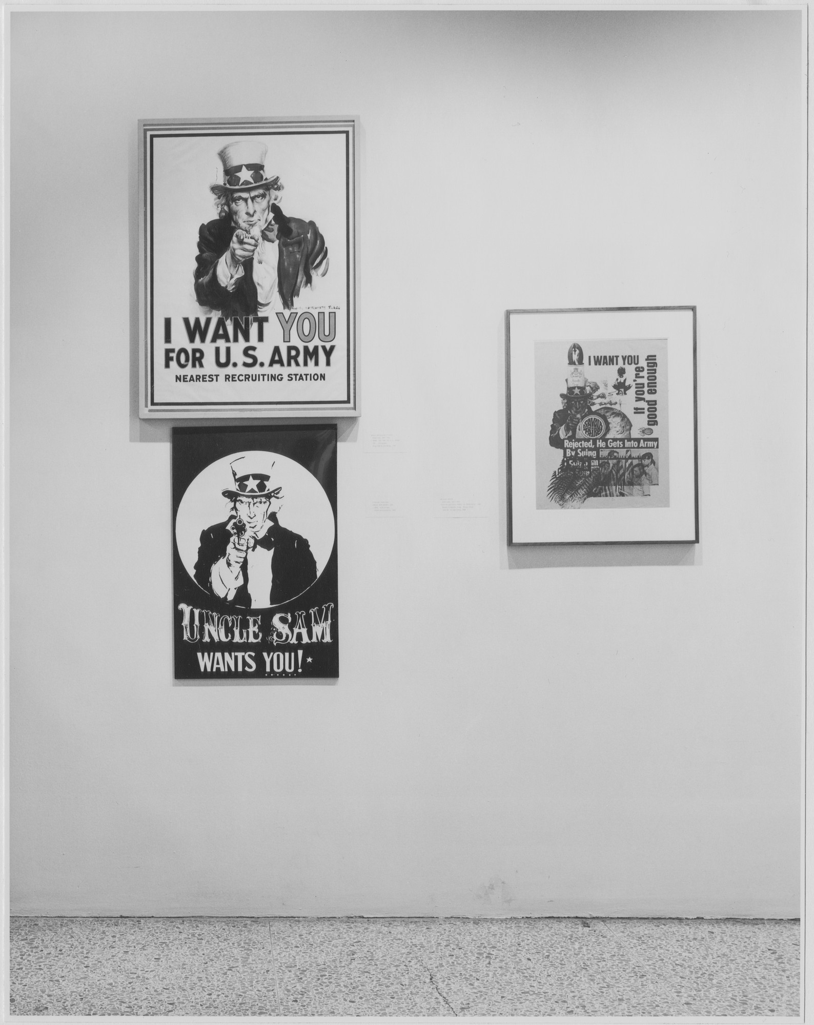 "Installation view of the exhibition, ""Artist as Adversary."" July 1, 1971–September 27, 1971. Photographic Archive. The Museum of Modern Art Archives, New York. IN968a.1. Photograph by James Mathews."