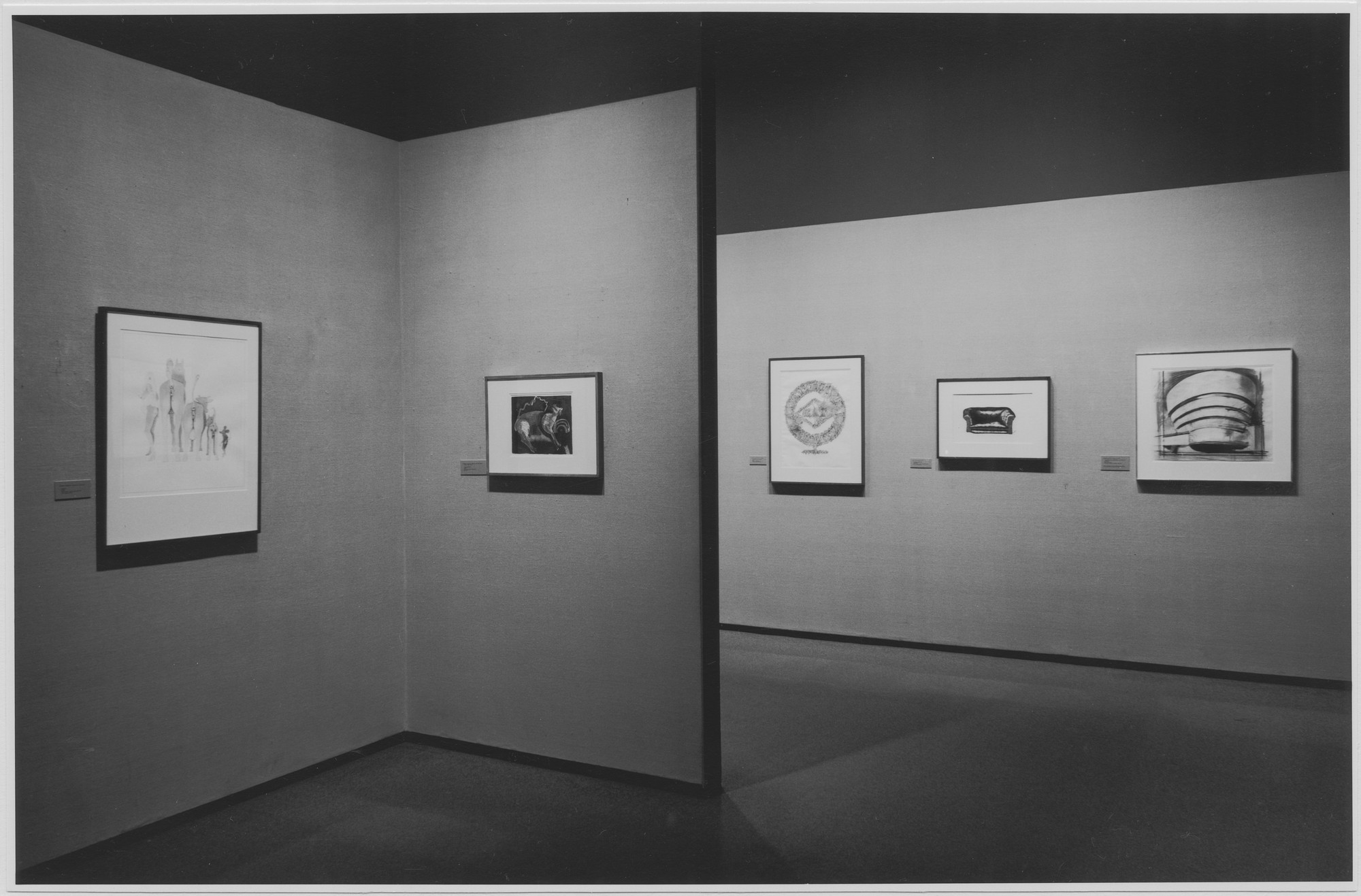 "Installation view of the exhibition, ""A Selection of Drawings and Watercolors from Museum Collection."" May 11, 1971–October 19, 1971. Photographic Archive. The Museum of Modern Art Archives, New York. IN965.1. Photograph by James Mathews."