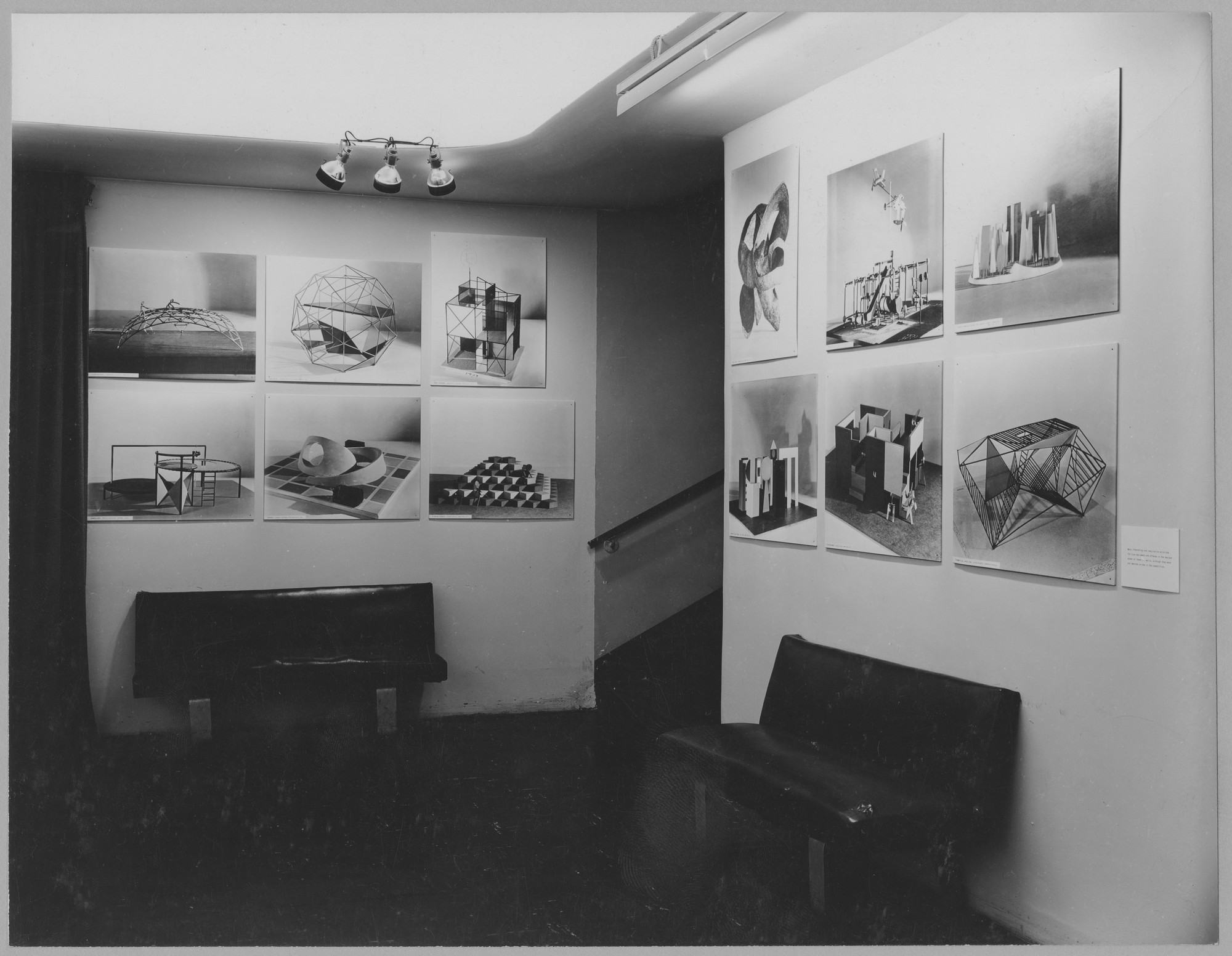 "Installation view of the exhibition, ""Playground Sculpture."" June 30, 1954–August 22, 1954. Photographic Archive. The Museum of Modern Art Archives, New York. IN562.1. Photograph by Soichi Sunami."