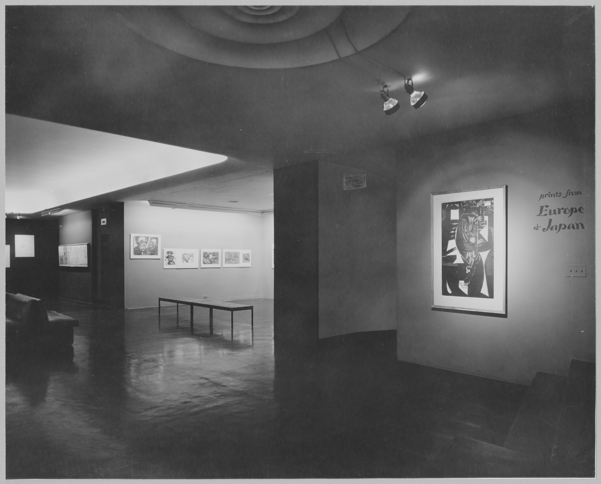 "Installation view of the exhibition, ""Prints from Europe and Japan; Etchings by Matisse."" May 4, 1955–May 31, 1955. Photographic Archive. The Museum of Modern Art Archives, New York. IN578.1. Photograph by Adolph Studly."