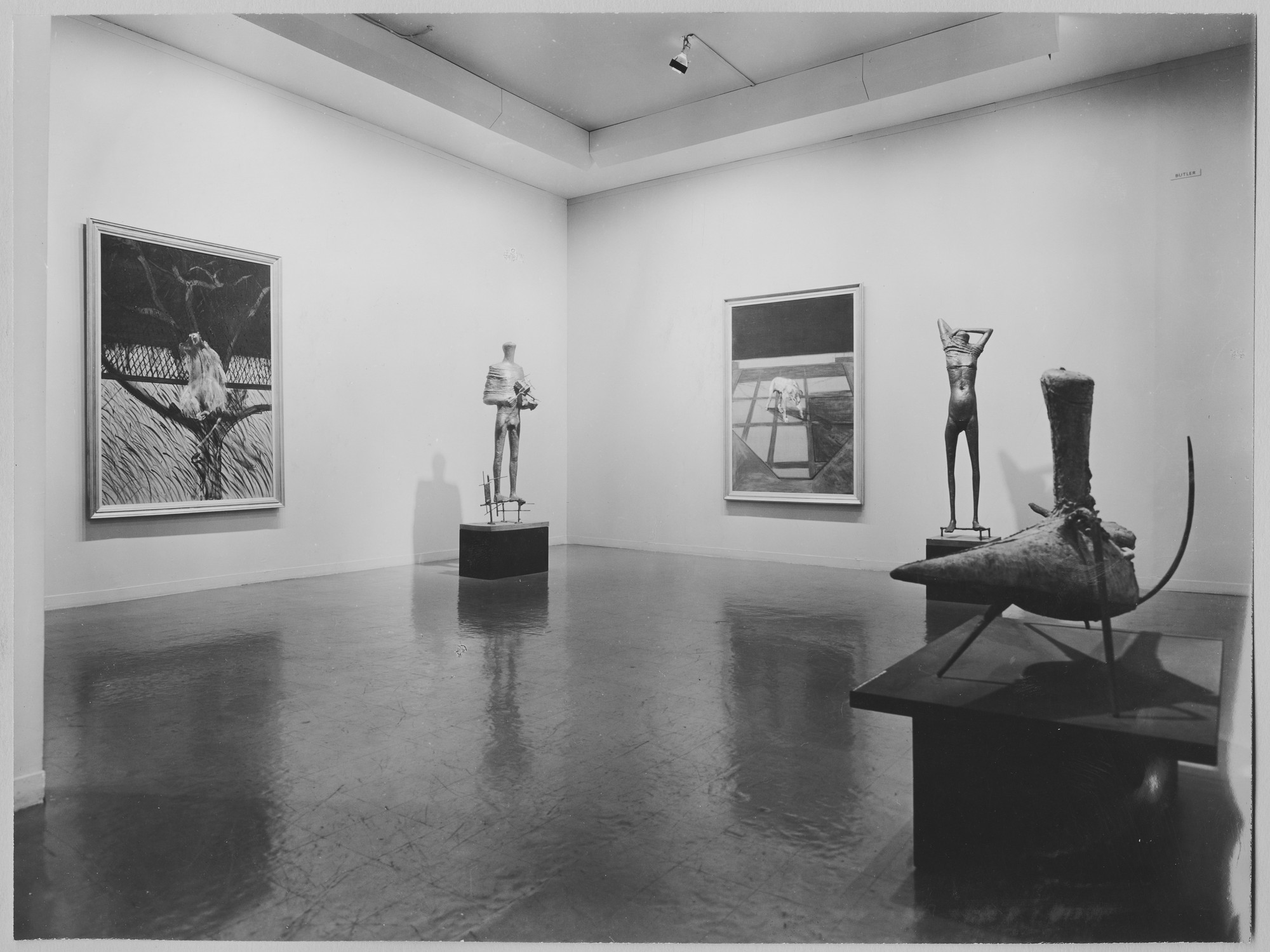 "Installation view of the exhibition, ""The New Decade:  22 European Painters and Sculptors."" May 10, 1955–August 7, 1955. Photographic Archive. The Museum of Modern Art Archives, New York. IN579.1. Photograph by Soichi Sunami."