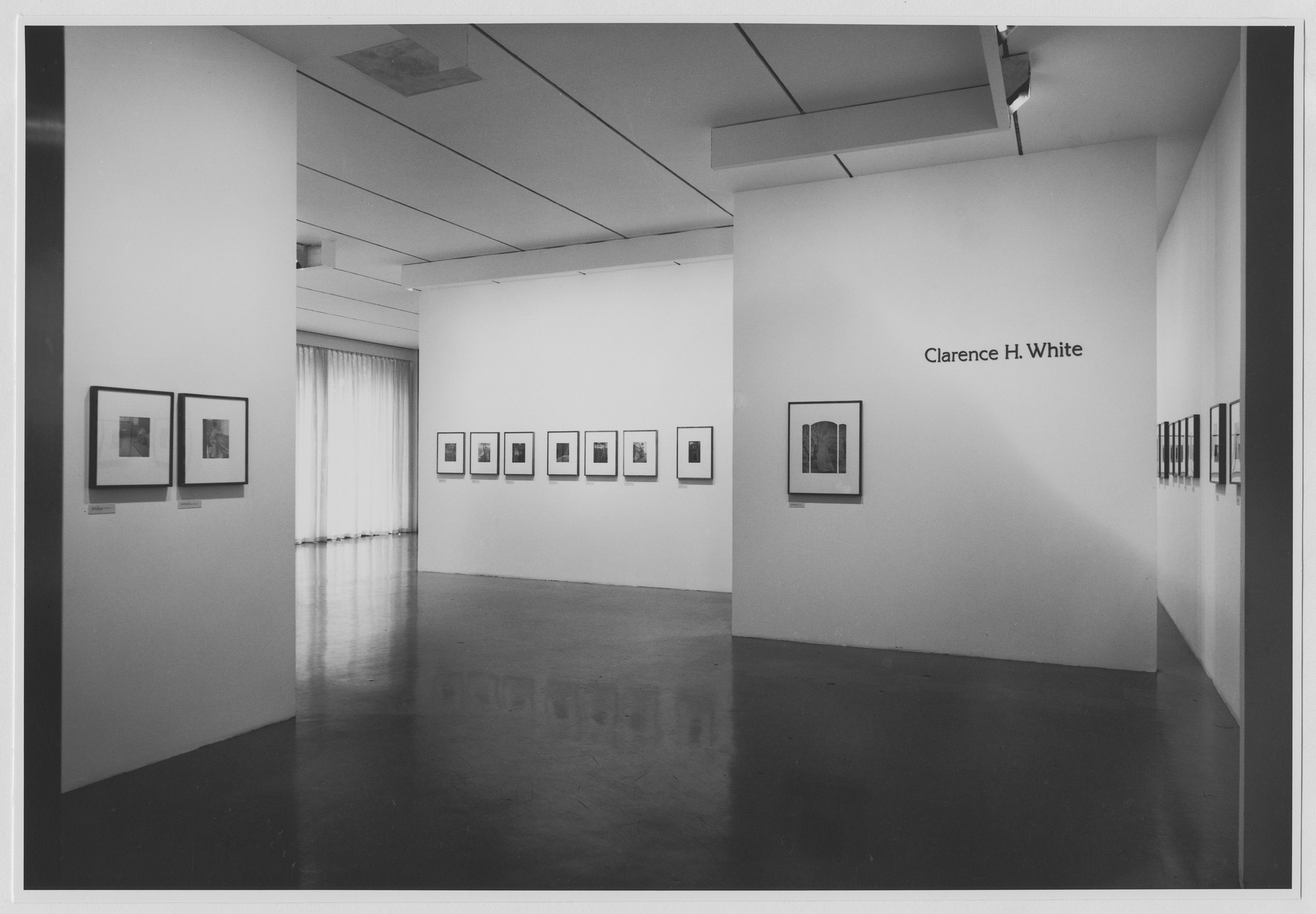 "Installation view of the exhibition, ""Clarence H. White."" July 21, 1971–September 27, 1971. Photographic Archive. The Museum of Modern Art Archives, New York. IN971.1. Photograph by James Mathews."