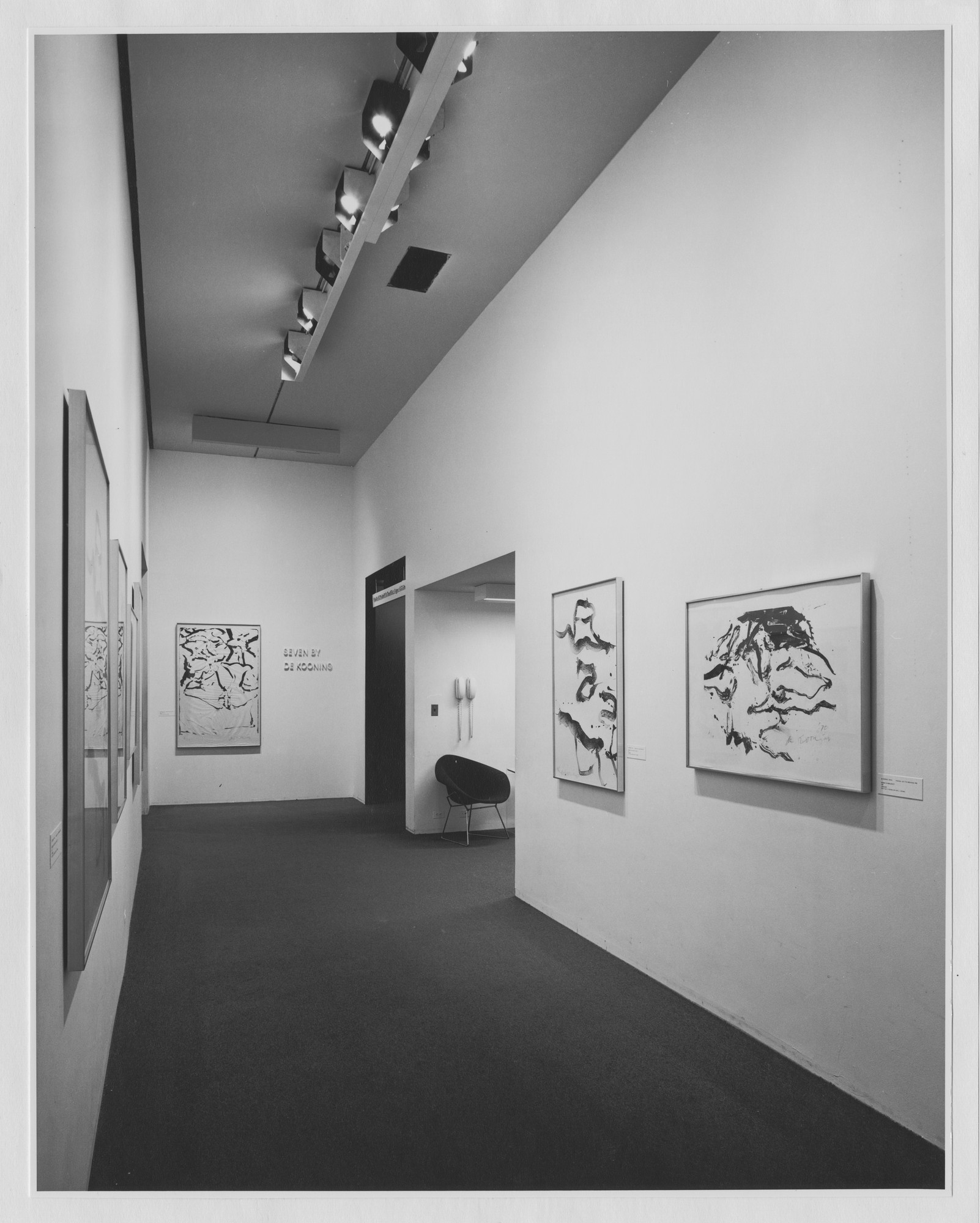 "Installation view of the exhibition, ""Seven by de Kooning."" December 23, 1971–April 1972. Photographic Archive. The Museum of Modern Art Archives, New York. IN989.1. Photograph by James Mathews."