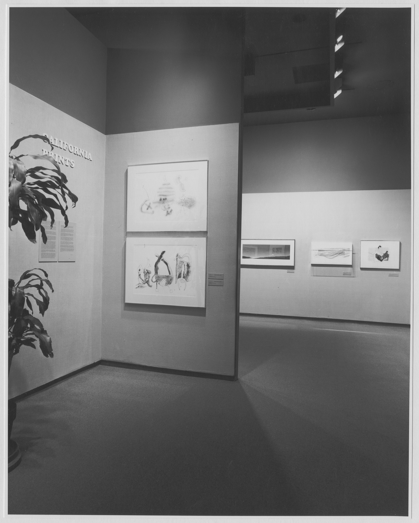 "Installation view of the exhibition, ""California Prints."" March 1, 1972–May 29, 1972. Photographic Archive. The Museum of Modern Art Archives, New York. IN997.1. Photograph by James Mathews."