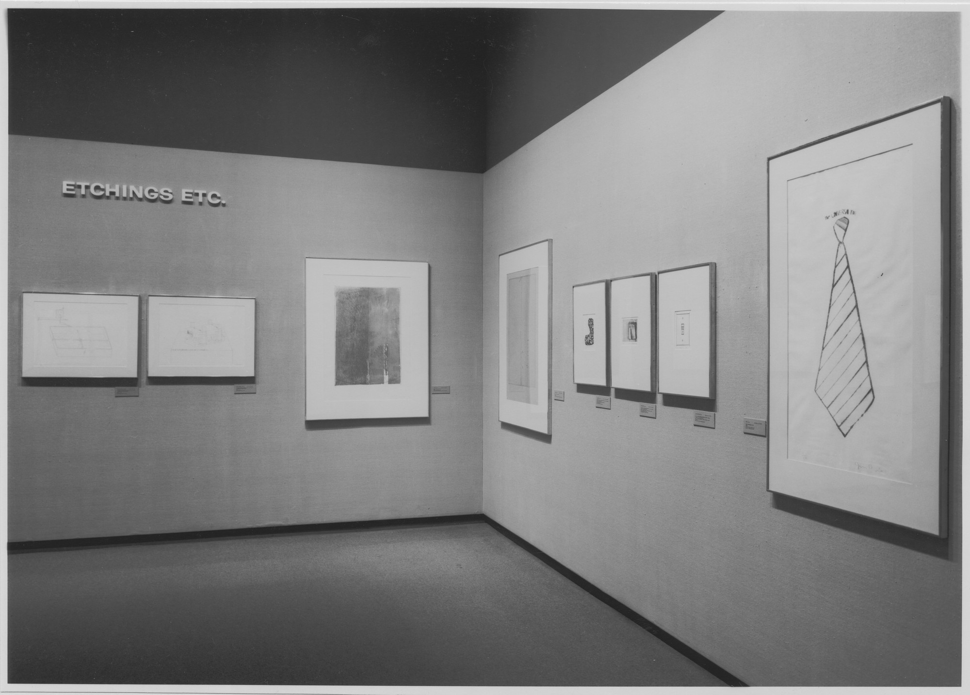 "Installation view of the exhibition, ""Etchings Etc."" October 25, 1972–February 5, 1973. Photographic Archive. The Museum of Modern Art Archives, New York. IN1014.1. Photograph by Katherine Keller."