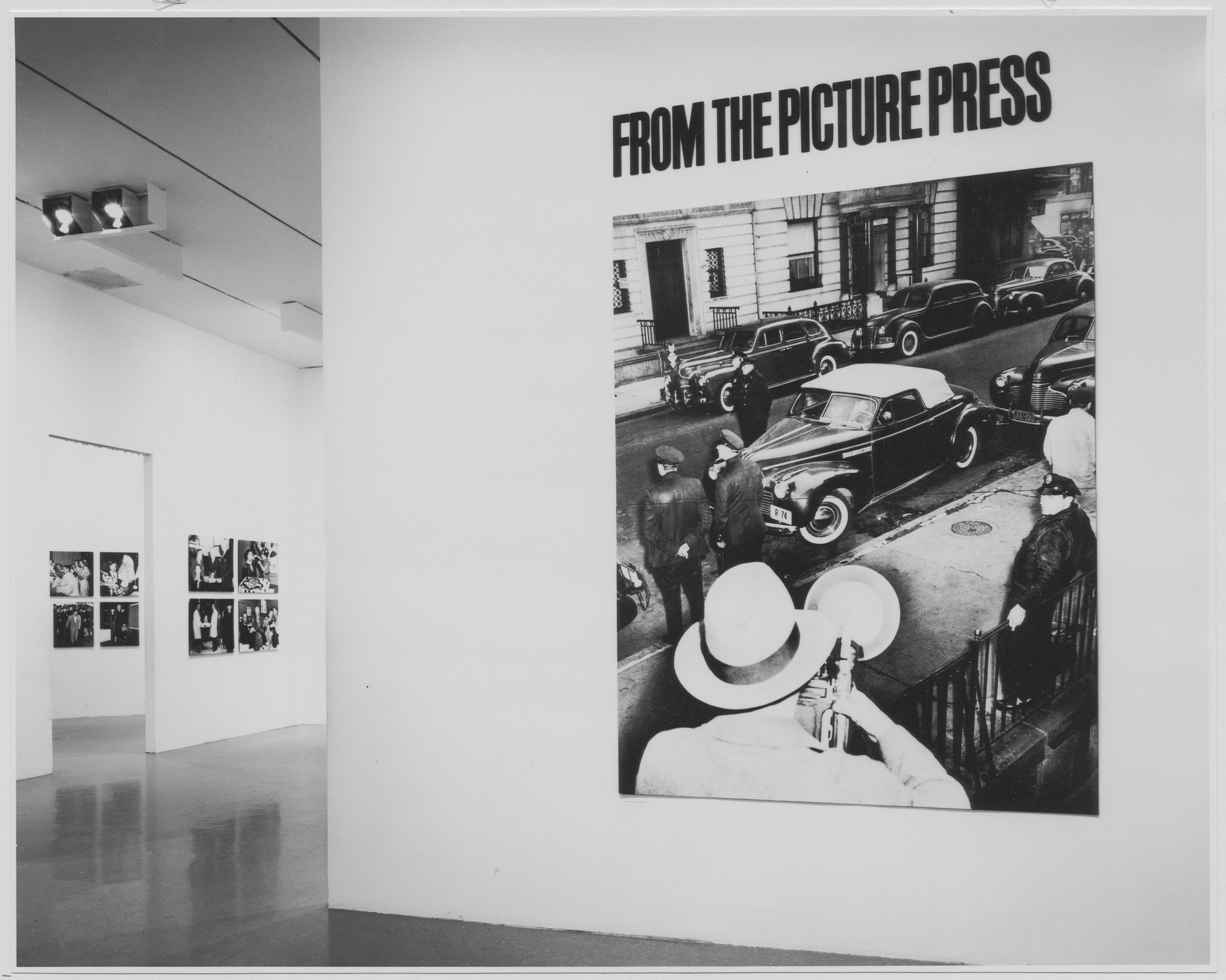 "Installation view of the exhibition, ""From the Picture Press."" January 30, 1973–April 29, 1973. Photographic Archive. The Museum of Modern Art Archives, New York. IN1022.1. Photograph by Katherine Keller."
