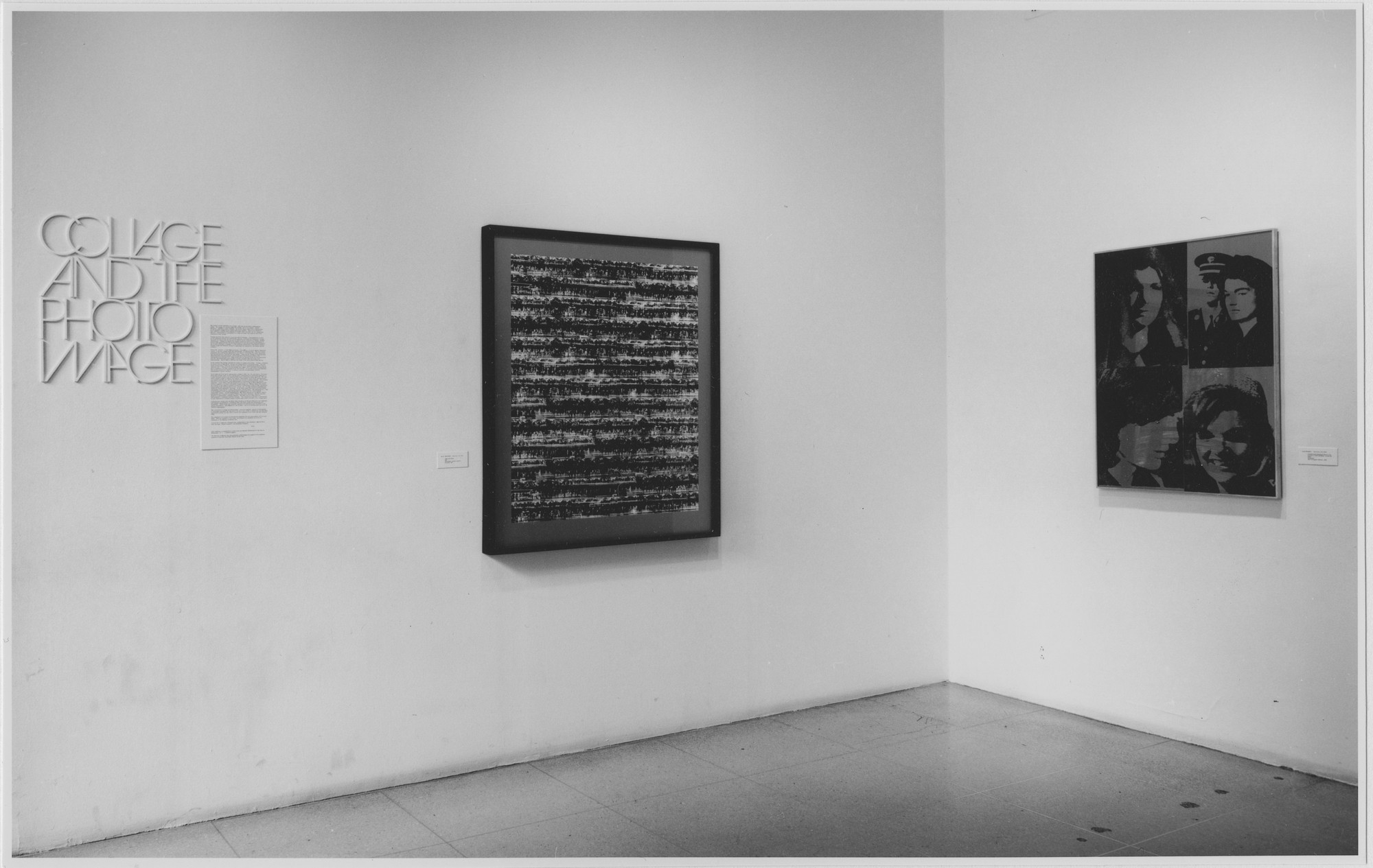 "Installation view of the exhibition, ""Collage and the Photo Image."" July 17, 1973–September 11, 1973. Photographic Archive. The Museum of Modern Art Archives, New York. IN1040.1. Photograph by Katherine Keller."