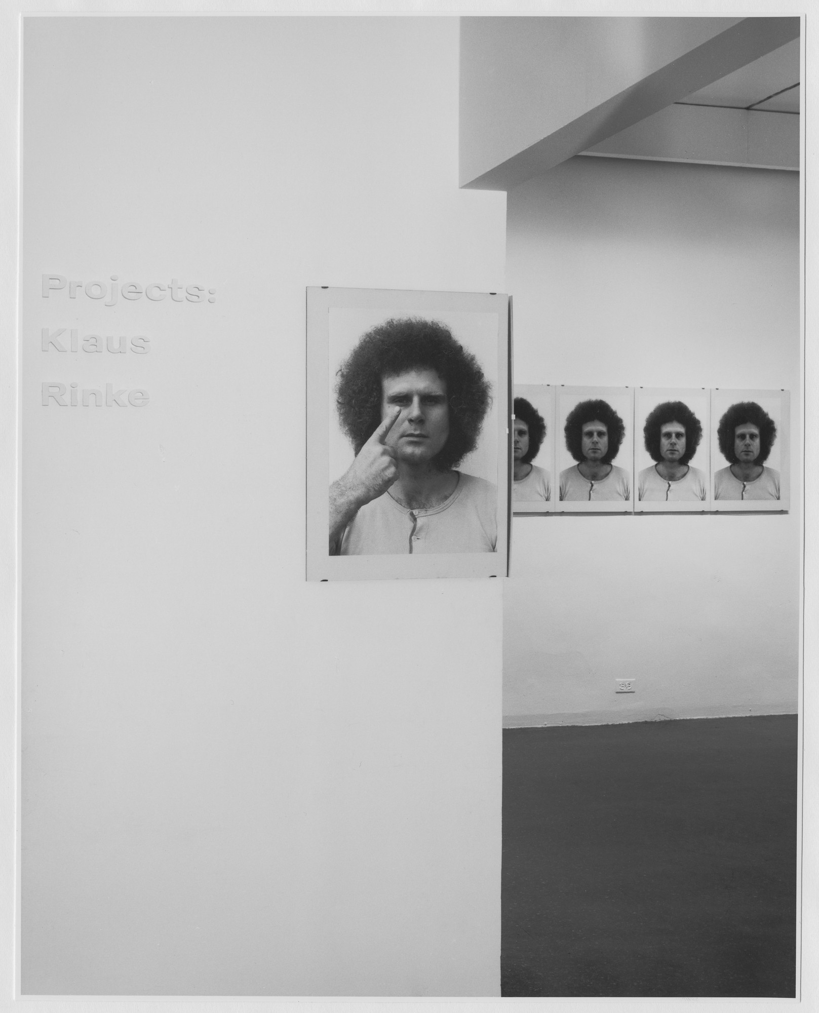 "Installation view of the exhibition, ""Projects: Klaus Rinke."" September 19, 1973–November 5, 1973. Photographic Archive. The Museum of Modern Art Archives, New York. IN1043.1. Photograph by Katherine Keller."