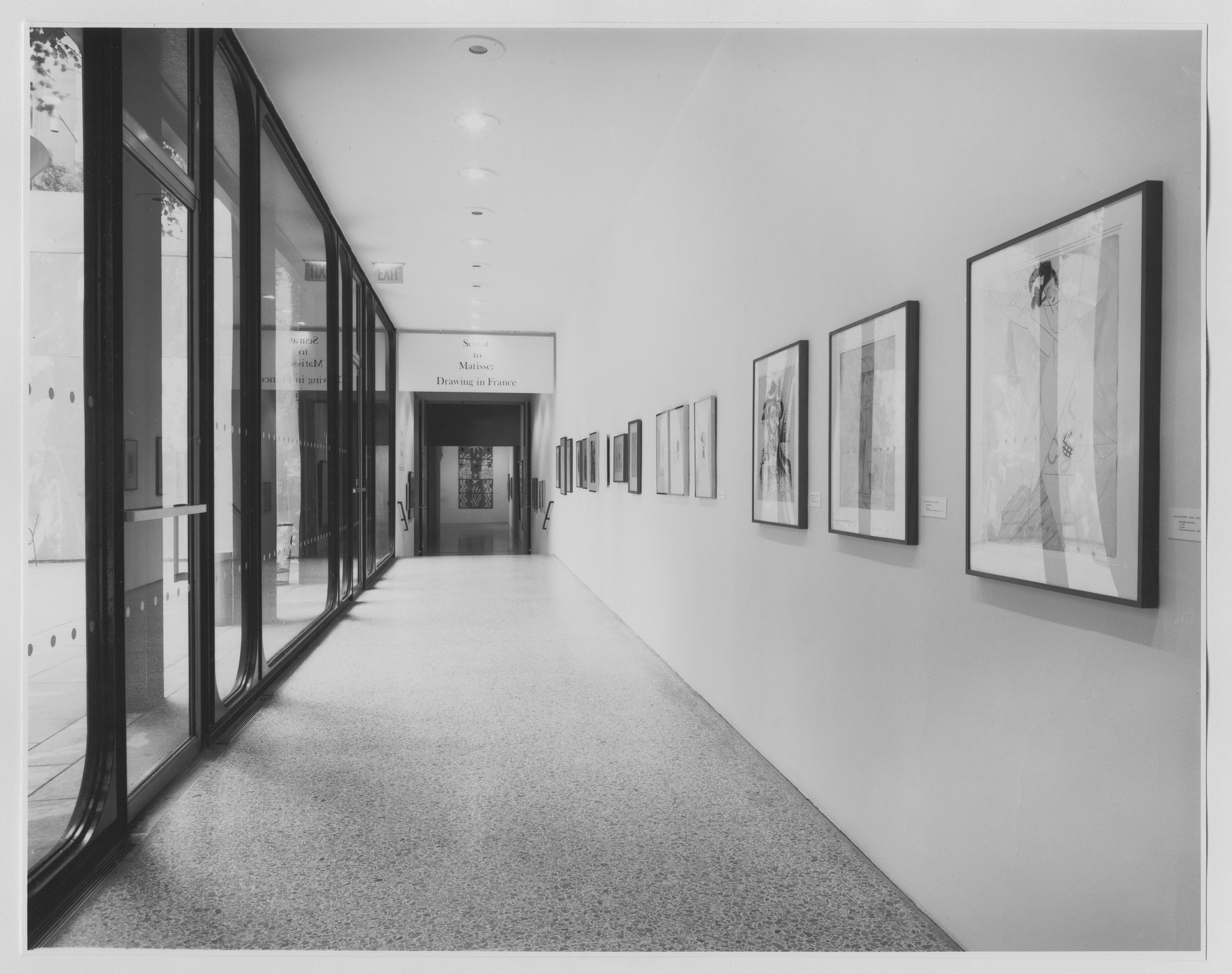 "Installation view of the exhibition, ""Seurat to Matisse: Drawing in France."" June 13, 1974–September 8, 1974. Photographic Archive. The Museum of Modern Art Archives, New York. IN1064.1. Photograph by Katherine Keller."