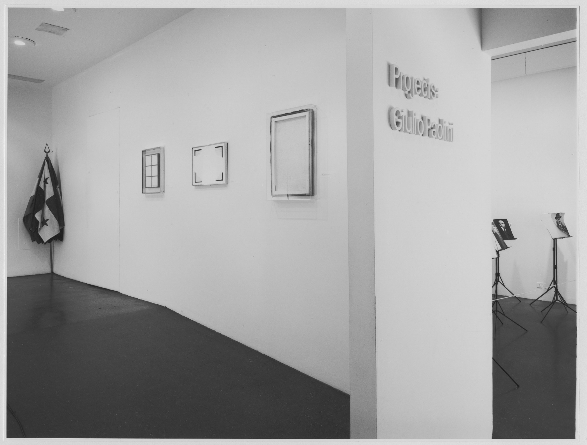 "Installation view of the exhibition, ""Projects: Giulio Paolini."" March 13, 1974–April 14, 1974. Photographic Archive. The Museum of Modern Art Archives, New York. IN1056.1. Photograph by Katherine Keller."