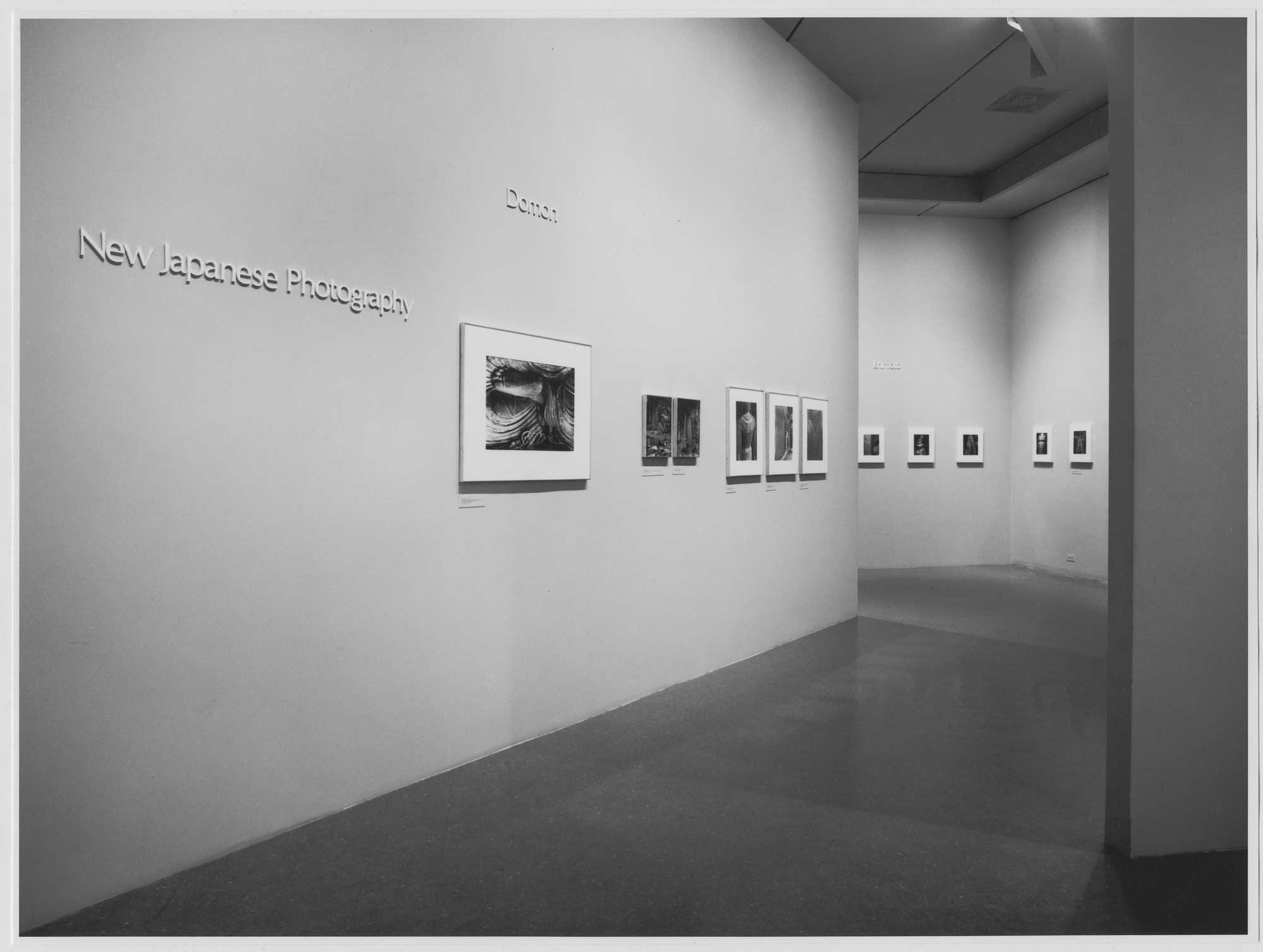 "Installation view of the exhibition, ""New Japanese Photography."" March 27, 1974–May 19, 1974. Photographic Archive. The Museum of Modern Art Archives, New York. IN1057.1. Photograph by Katherine Keller."