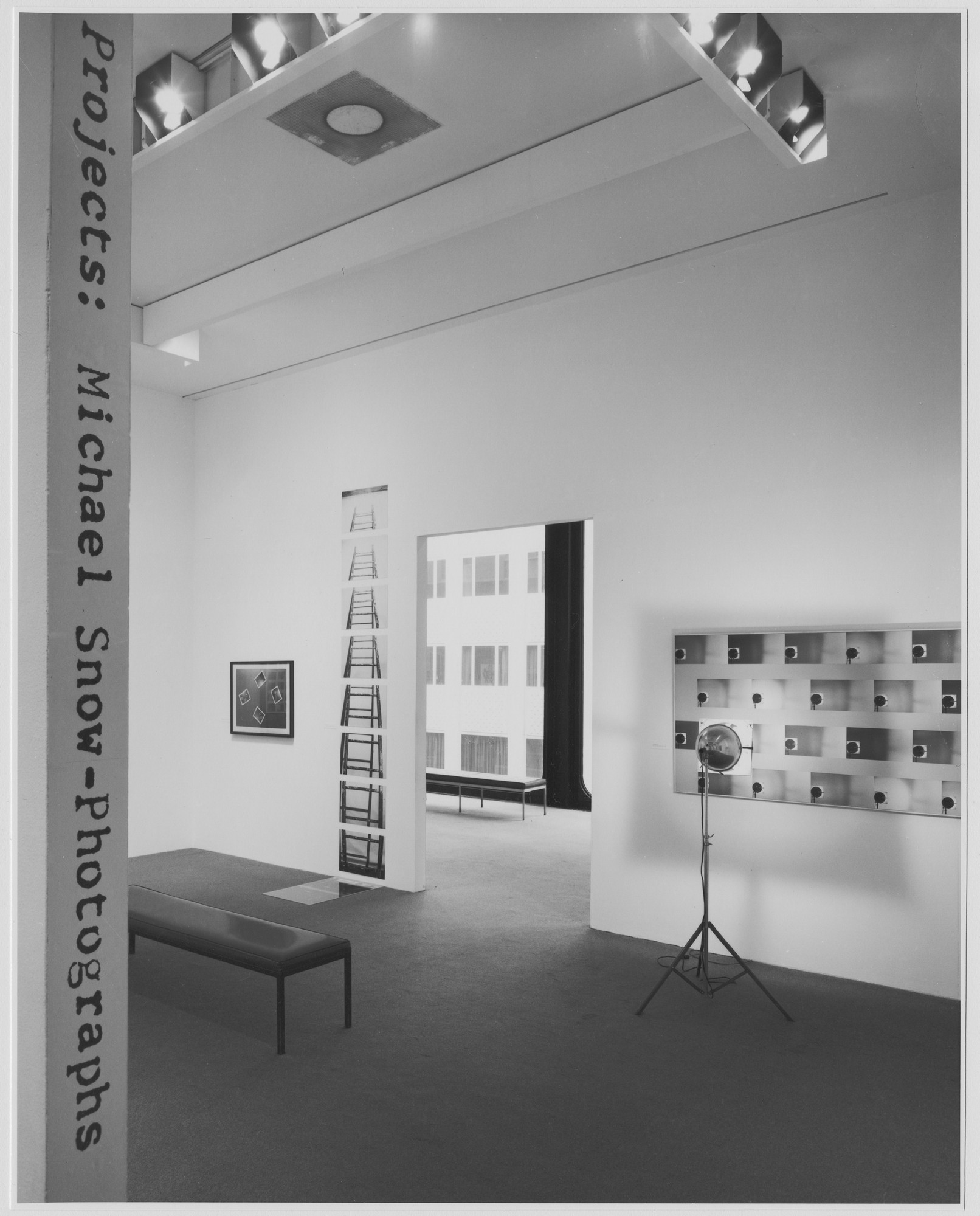 "Installation view of the exhibition, ""Projects: Michael Snow, Photographs."" February 19, 1976–April 27, 1976. Photographic Archive. The Museum of Modern Art Archives, New York. IN1120.1. Photograph by David Allison."