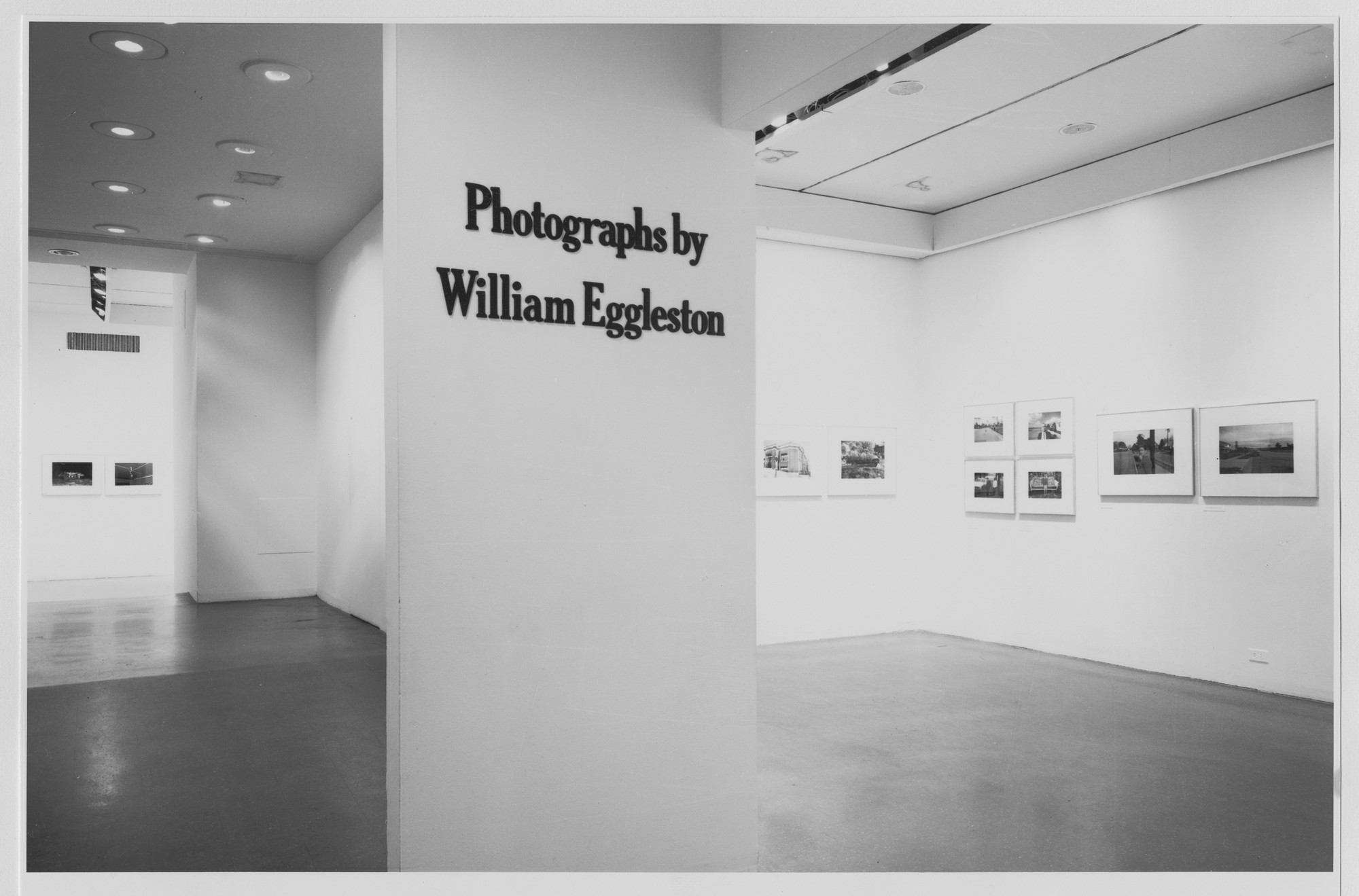 "Installation view of the exhibition, ""William Eggleston."" May 24, 1976–August 1, 1976. Photographic Archive. The Museum of Modern Art Archives, New York. IN1133.1. Photograph by Katherine Keller."
