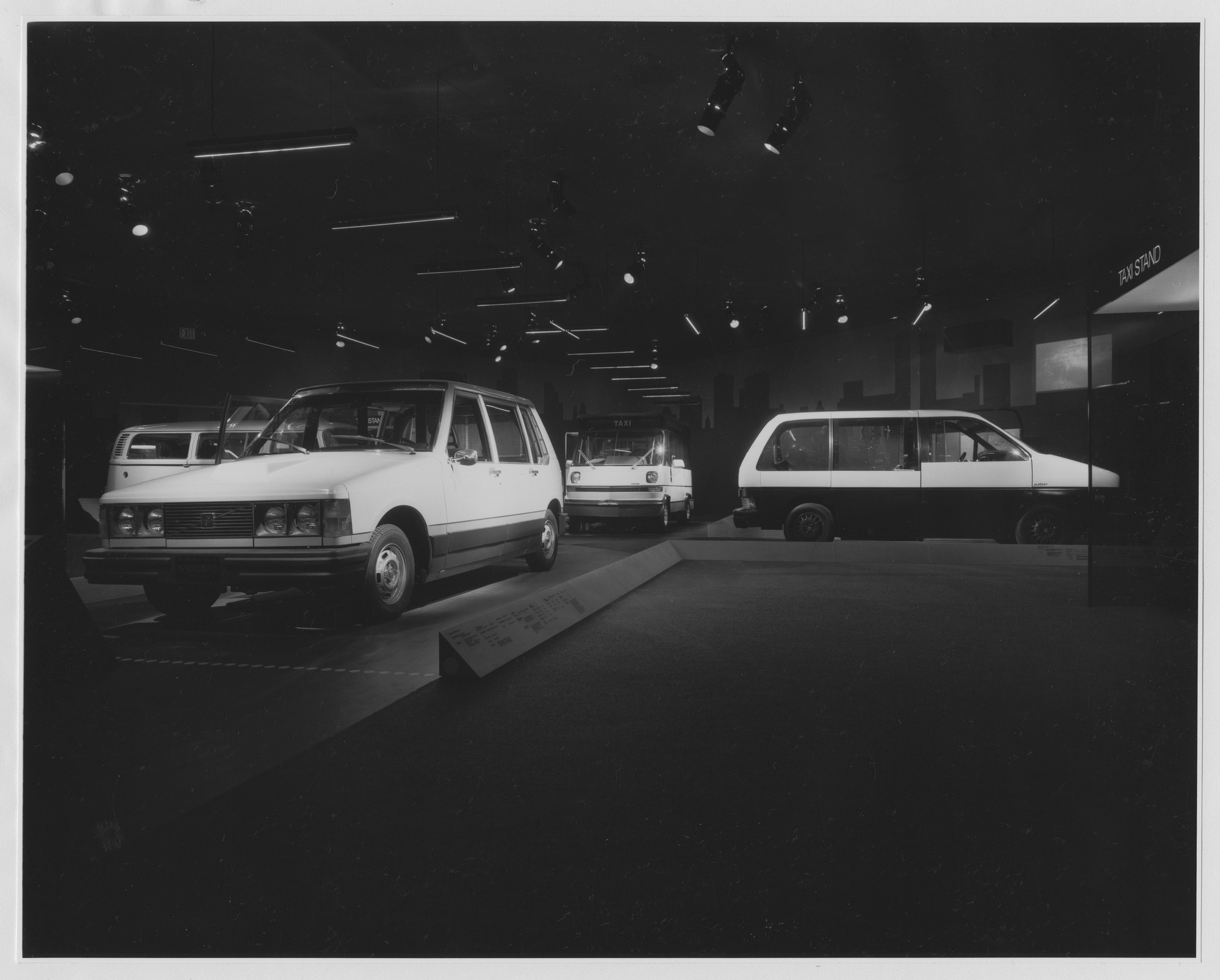 "Installation view of the exhibition, ""The Taxi Project: Realistic Solutions for Today."" June 16, 1976–September 7, 1976. Photographic Archive. The Museum of Modern Art Archives, New York. IN1137.1. Photograph by David Allison."