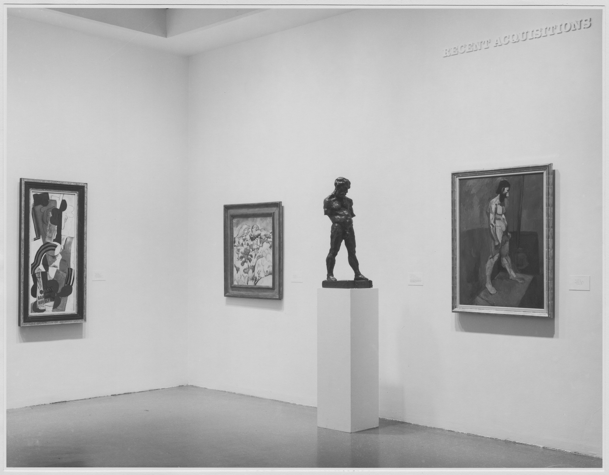 "Installation view of the exhibition, ""Recent Acquisitions Painting and Sculpture."" November 22, 1976–March 1, 1977. Photographic Archive. The Museum of Modern Art Archives, New York. IN1156.1. Photograph by Katherine Keller."