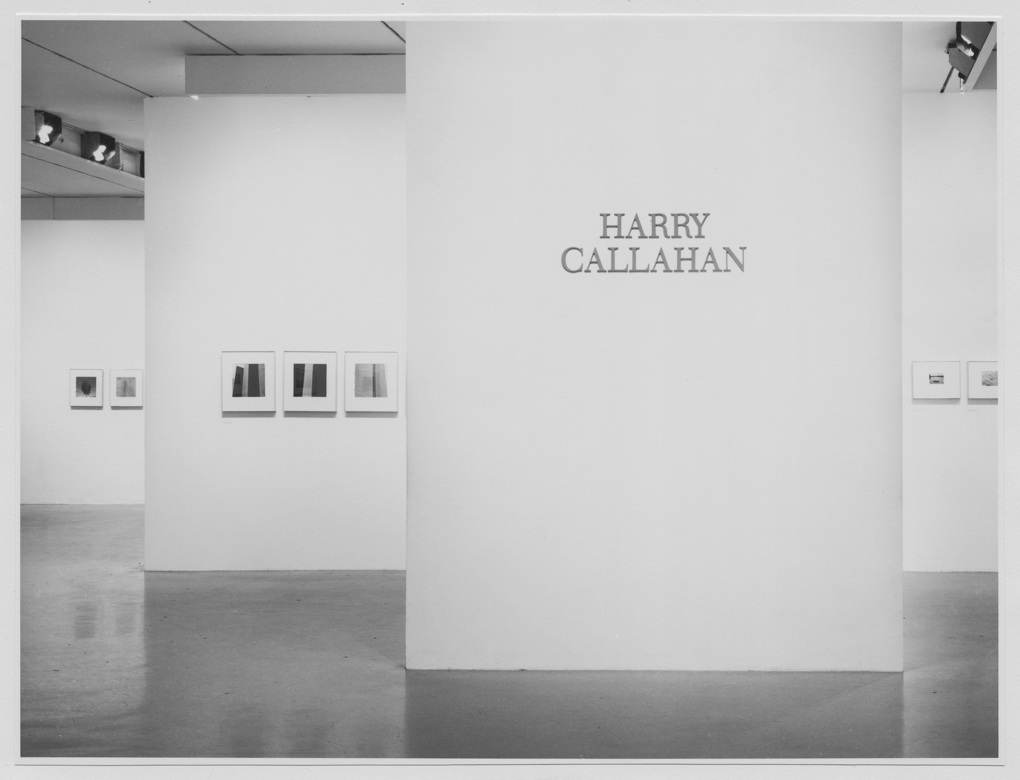 "Installation view of the exhibition, ""Harry Callahan."" December 2, 1976–February 8, 1977. Photographic Archive. The Museum of Modern Art Archives, New York. IN1158.1. Photograph by Katherine Keller."