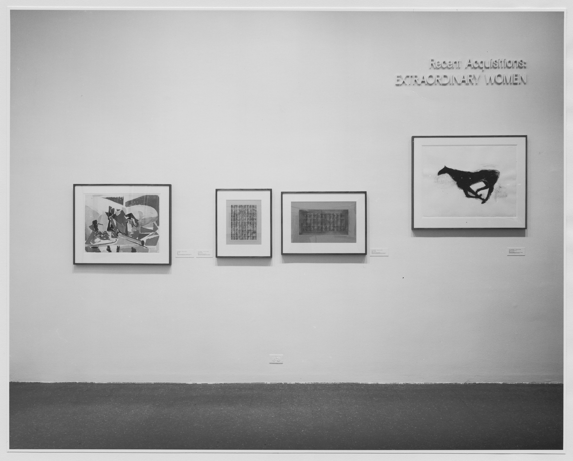 "Installation view of the exhibition, ""Extraordinary Women."" July 22, 1977–September 20, 1977. Photographic Archive. The Museum of Modern Art Archives, New York. IN1180.1. Photograph by Katherine Keller."