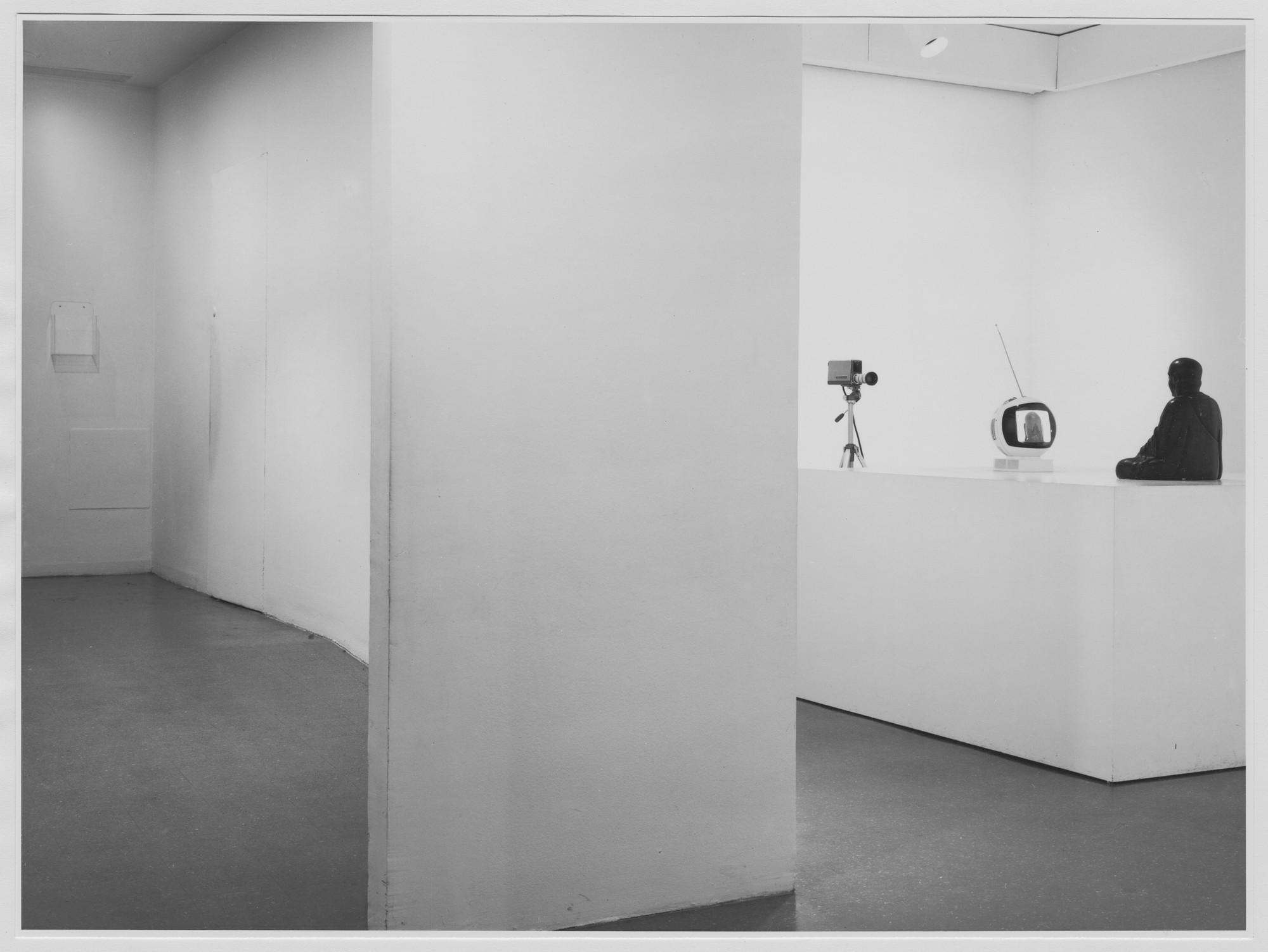 "Installation view of the exhibition, ""Projects: Nam June Paik."" August 29, 1977–October 10, 1977. Photographic Archive. The Museum of Modern Art Archives, New York. IN1184.1. Photograph by Katherine Keller."