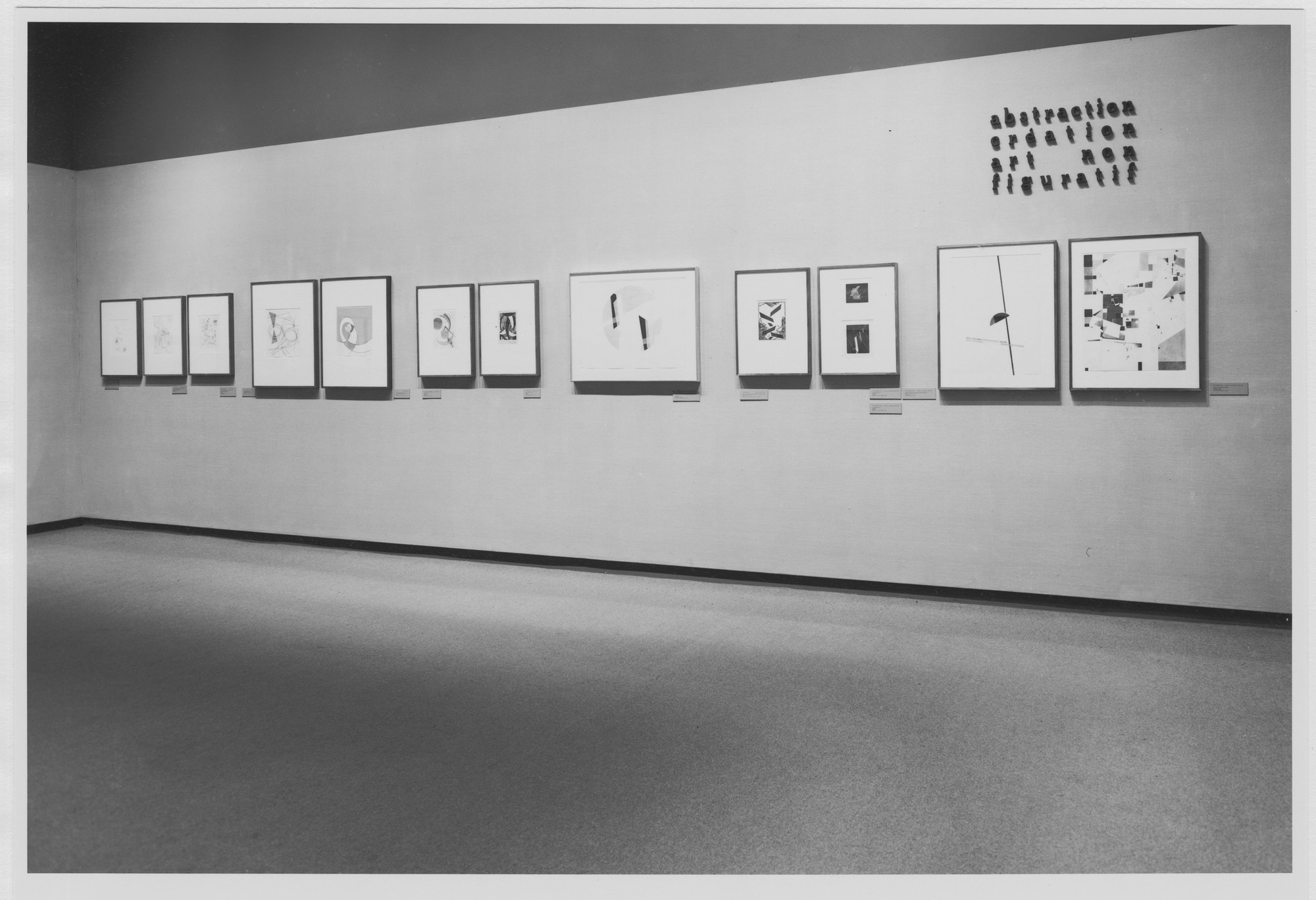 "Installation view of the exhibition, ""Abstraction/Creation."" September 20, 1977–December 4, 1977. Photographic Archive. The Museum of Modern Art Archives, New York. IN1185.1. Photograph by Katherine Keller."
