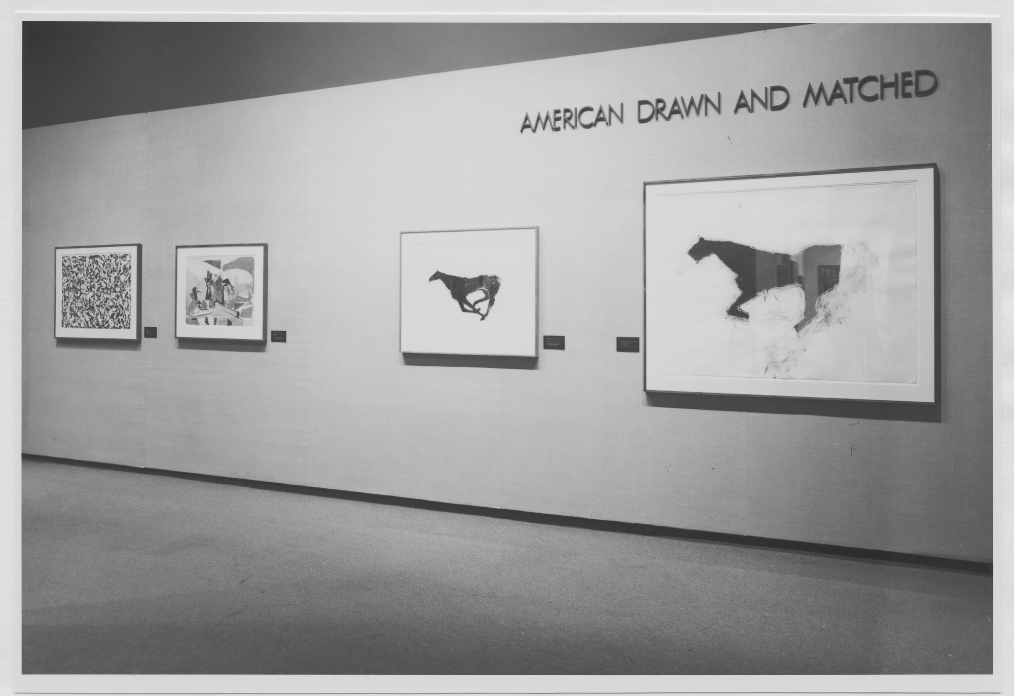 "Installation view of the exhibition, ""American Drawn and Matched."" September 20, 1977–December 4, 1977. Photographic Archive. The Museum of Modern Art Archives, New York. IN1186.1. Photograph by Katherine Keller."