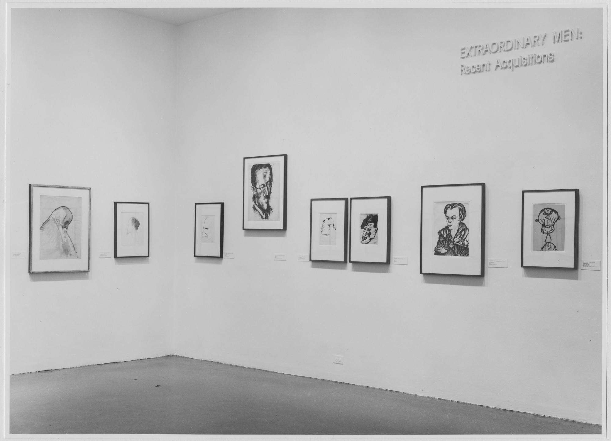 "Installation view of the exhibition, ""Extraordinary Men."" June 2, 1977–July 17, 1977. Photographic Archive. The Museum of Modern Art Archives, New York. IN1174.1. Photograph by Katherine Keller."