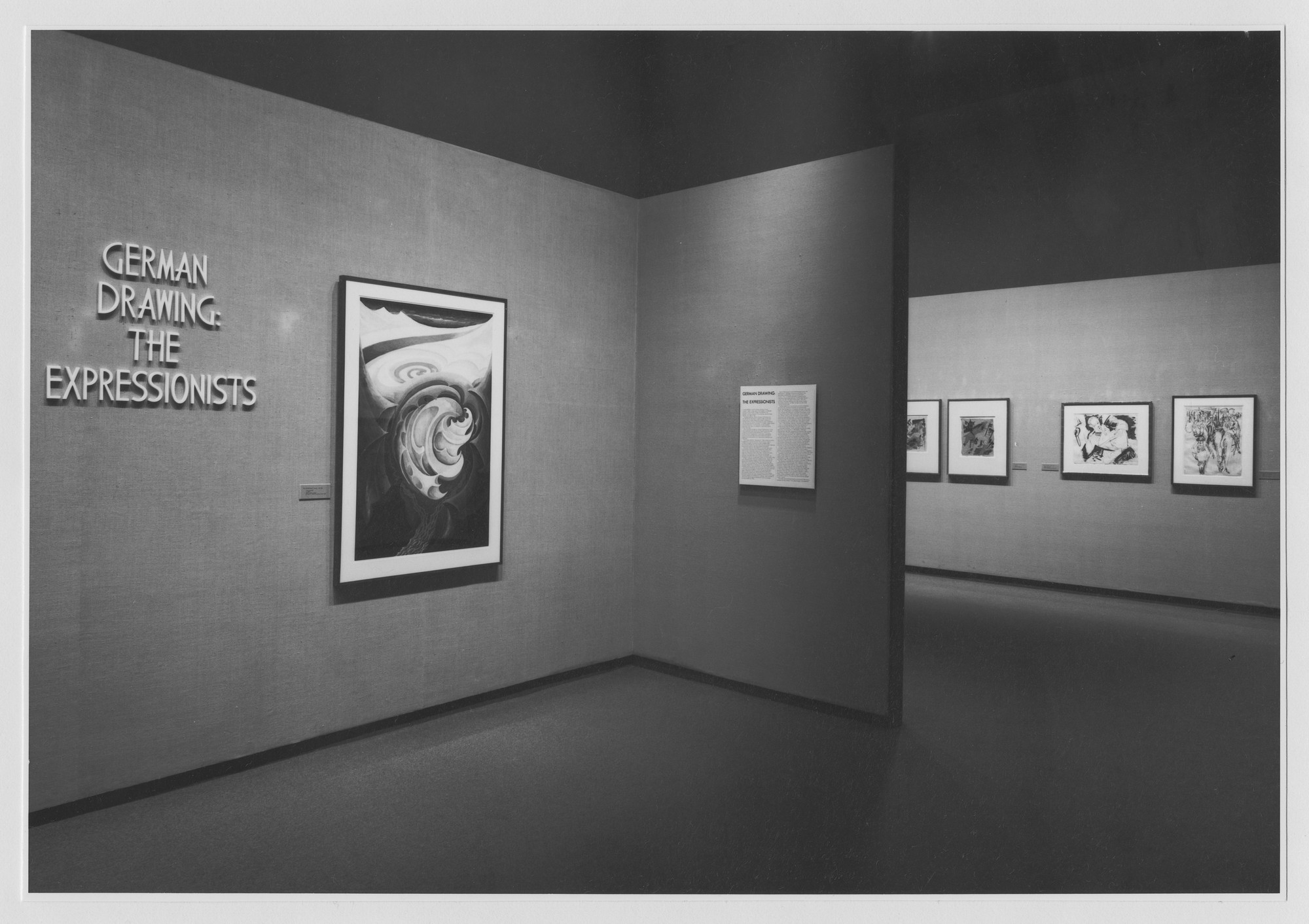 "Installation view of the exhibition, ""German Drawings: The Expressionists."" August 30, 1974–November 10, 1974. Photographic Archive. The Museum of Modern Art Archives, New York. IN1070.1. Photograph by Katherine Keller."