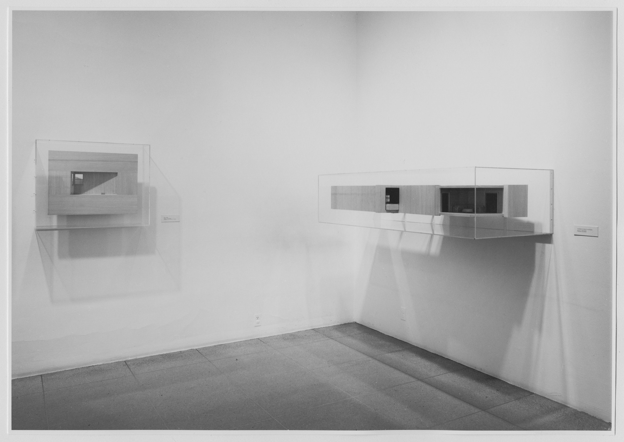 "Installation view of the exhibition, ""Projects: Michael Hurson."" September 16, 1974–October 20, 1974. Photographic Archive. The Museum of Modern Art Archives, New York. IN1073.1. Photograph by Katherine Keller."