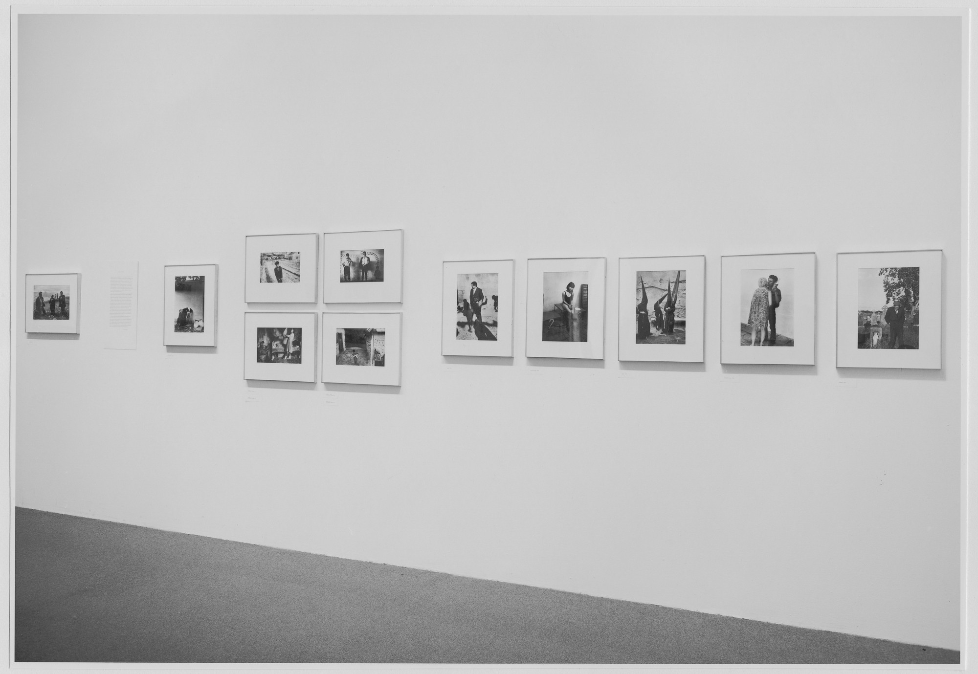 "Installation view of the exhibition, ""Josef Koudelka: Photographs."" February 24, 1975–May 11, 1975. Photographic Archive. The Museum of Modern Art Archives, New York. IN1089.1. Photograph by Katherine Keller."