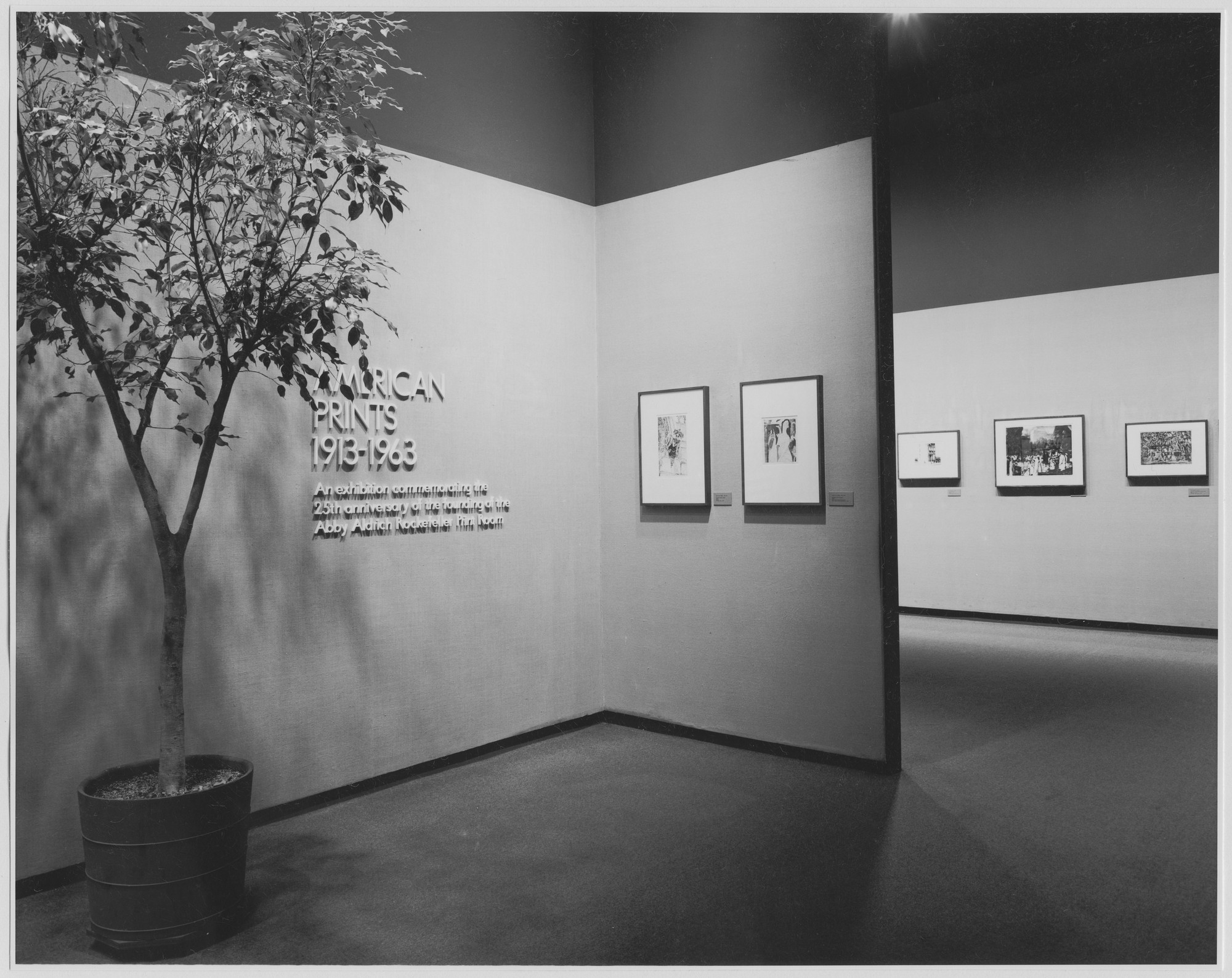 "Installation view of the exhibition, ""American Prints: 1913-1963."" December 3, 1974–March 3, 1975. Photographic Archive. The Museum of Modern Art Archives, New York. IN1082a.1. Photograph by Katherine Keller."